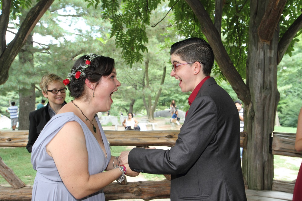 central park same sex wedding