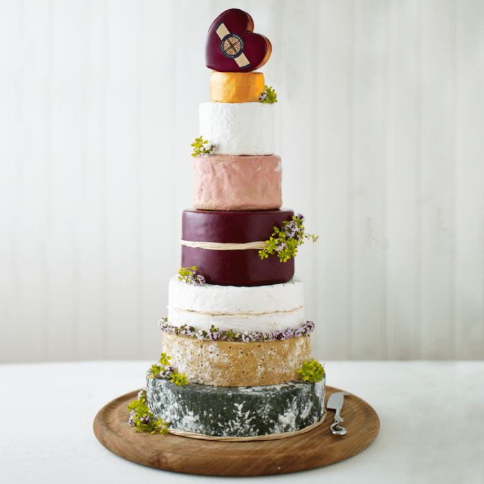 cheese wedding cake - quirky wedding cake - different wedding cake