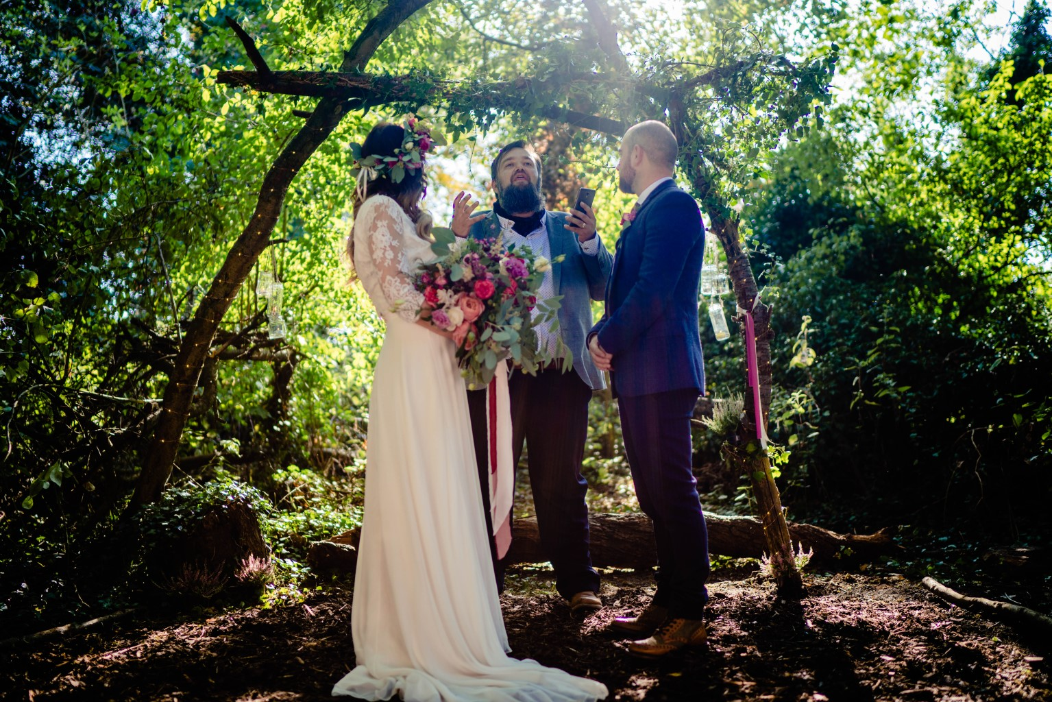 Vicki Clayson Photography- Bohemian Woodland Wedding- Unconventional Wedding- Alternative Wedding- Outdoor Wedding- Handfasting- Unique Wedding
