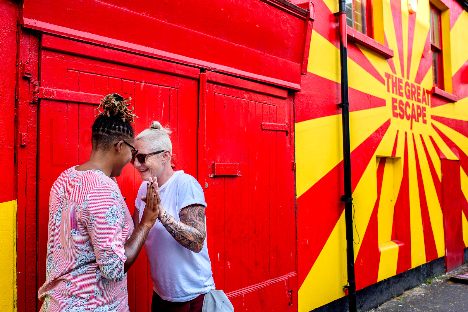 Unique Engagement Photoshoot- Corina Photography- Pride Wedding- Brighton Pride- Unconventional Wedding- Quirky Wedding- Alternative Wedding