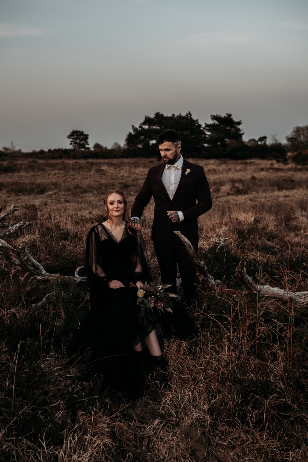 Finn And The Fox Photography-Moody Elopement Wedding- Unconventional Wedding-Edgy Wedding- Unique Wedding - Gothic wedding 3