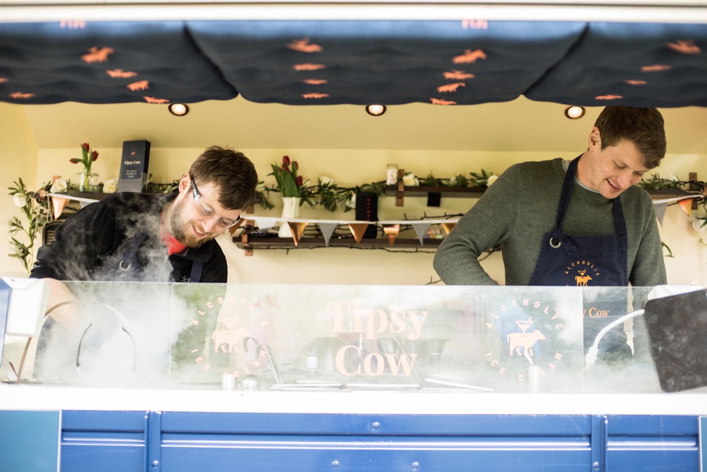 Tipsy cow ice cream - how to plan a festival wedding - unconventional wedding festival - alternative wedding food trucks - matt glover photog