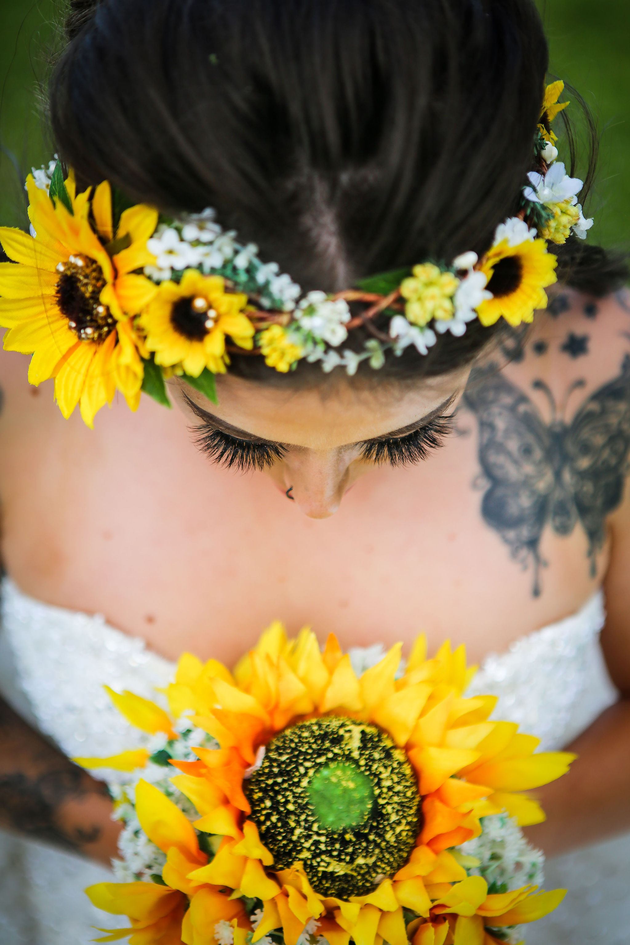 Harriet&Rhys Wedding - Magical sunflower wedding - alternative bride with sunflowers - alternative wedding - unconventional wedding