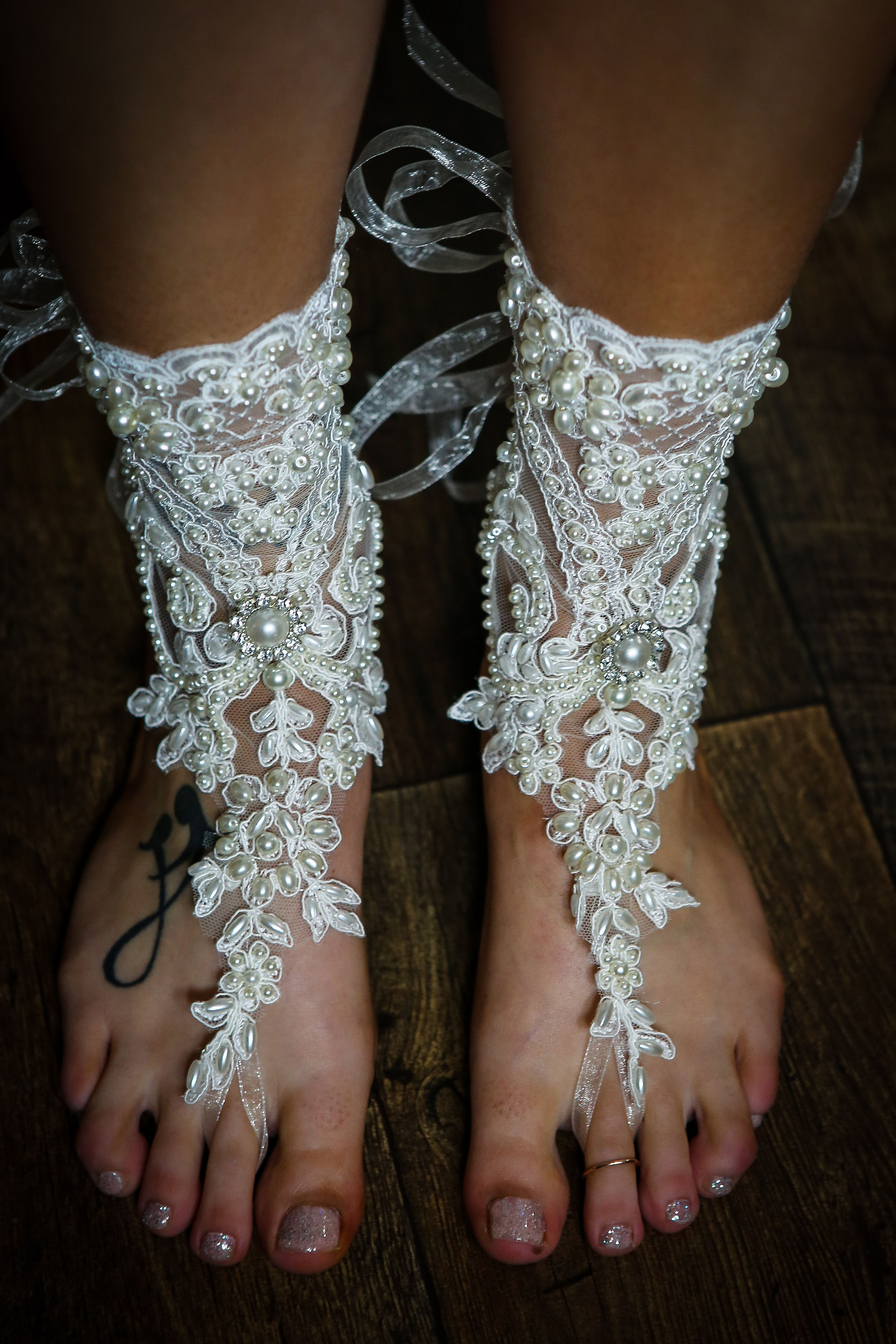 Harriet&Rhys Wedding - lace wedding footwear - wedding accessories