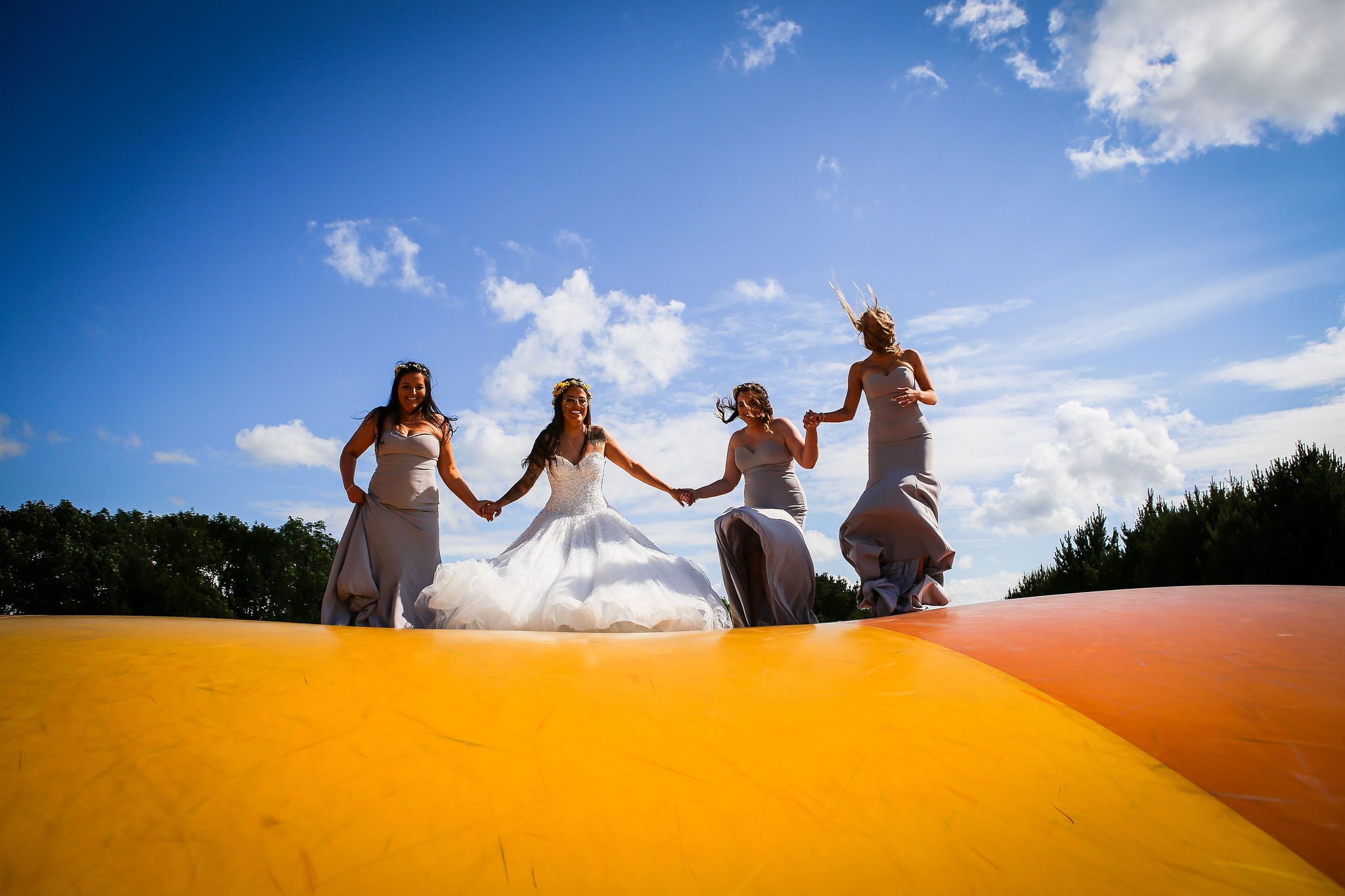 Harriet&Rhys Wedding - quirky wedding with bouncy castle (2)