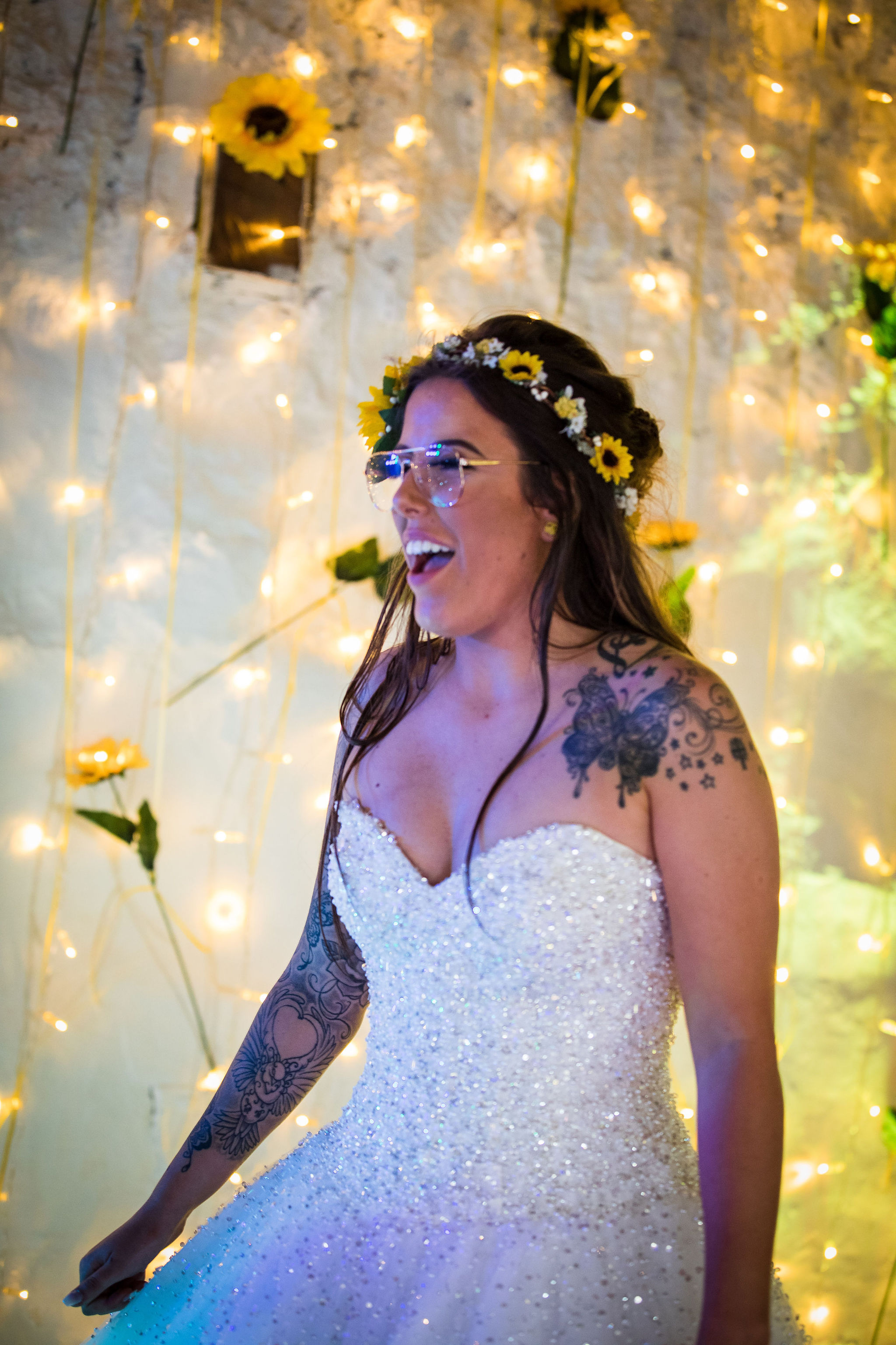 Harriet&Rhys Wedding - Magical sunflower wedding - quirky wedding with dodgems (25)