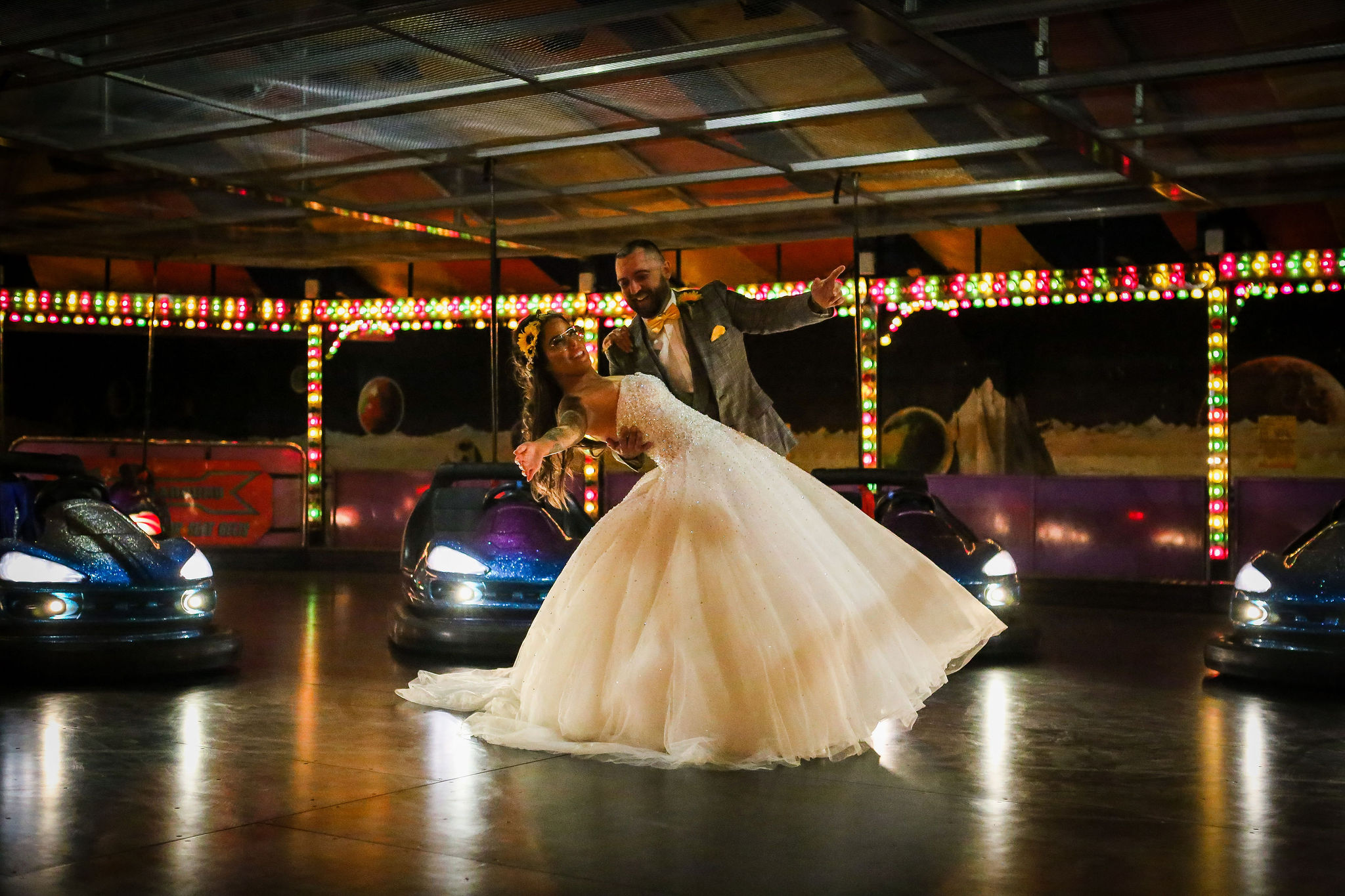 Harriet&Rhys Wedding - quirky wedding with dodgems (61)