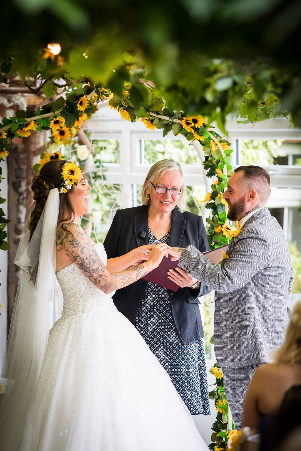 Harriet&Rhys Wedding - Magical sunflower wedding - quirky wedding with dodgems (8)