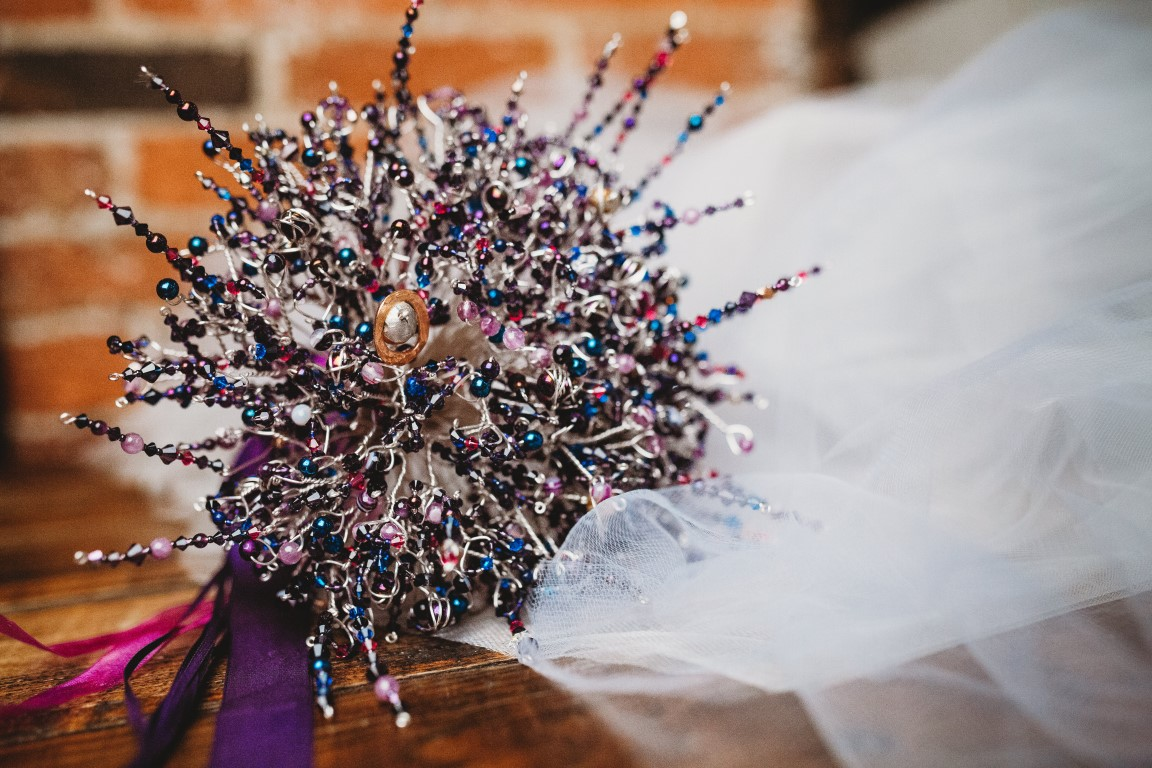 Galaxy Wedding- CRZyBest- Alternative Wedding Boquet- Alternative Wedding Accessories-Unconventional Wedding- Unusual Wedding Dresses- Alternative Wedding Cake