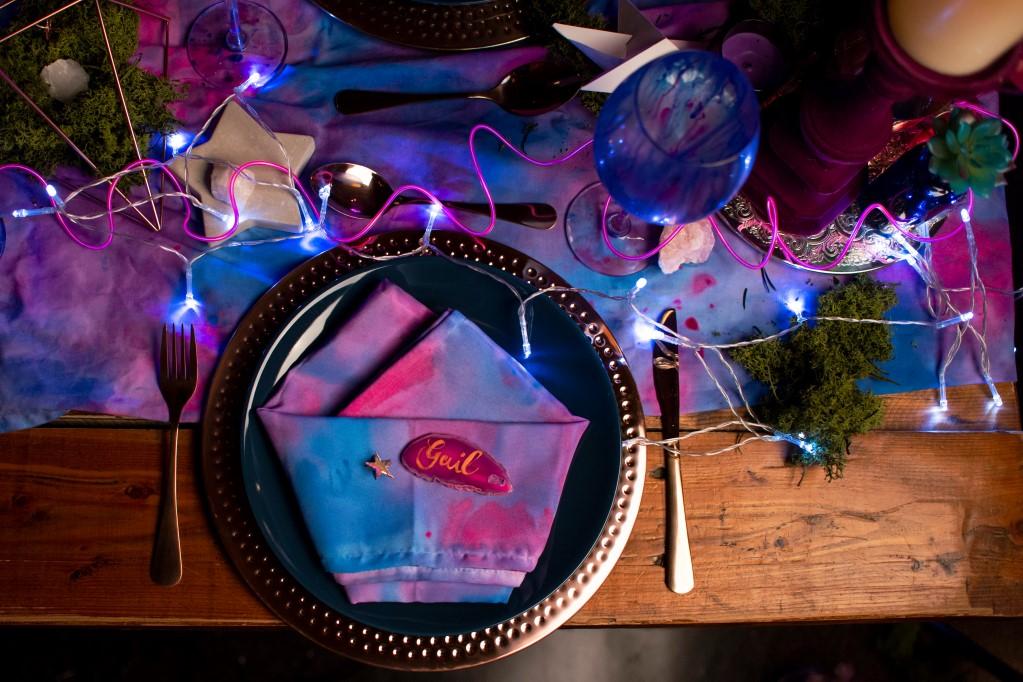 Galaxy Wedding-Wedding table decorations- CRZyBest- Alternative Wedding Boquet- Alternative Wedding Accessories-Unconventional Wedding- Unusual Wedding Dresses- Alternative Wedding Cake