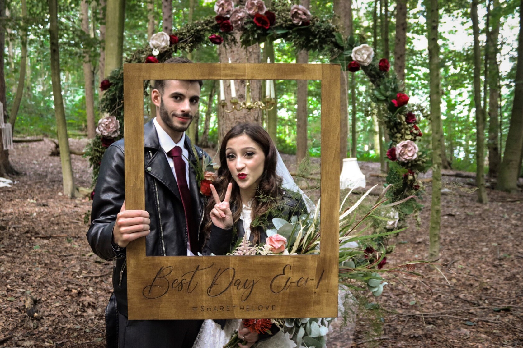 Cole Photography- Boho Punk Wedding- Unconventional Wedding- Quirky Wedding- Alternative Wedding- Unique Wedding Ideas- Unique Bridal Wear- Unique Wedding Dress- Woodland Wedding- Boho Wedding- Punk Wedding