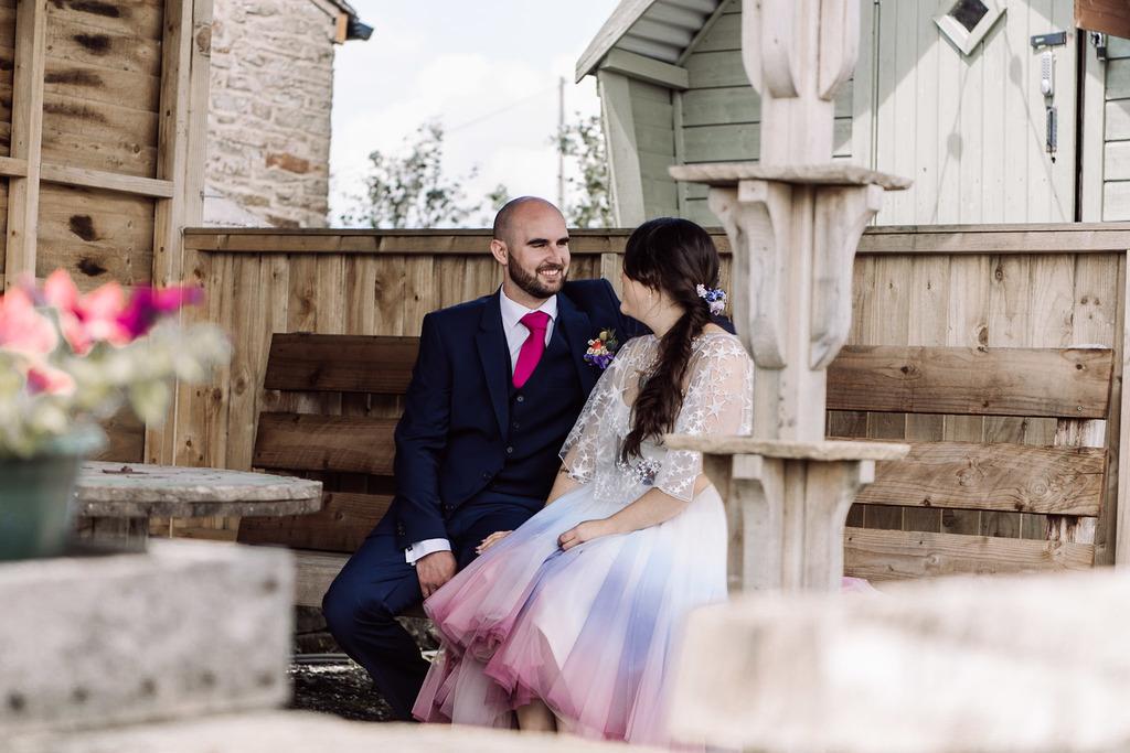 Ombre Wedding- Emma Ryan Photography- Ombre Wedding Dress- Rainbow Wedding- Colourful Wedding- Farm Wedding- Unconventional Wedding- Alternative Wedding- Unique Bridalwear- Quirky Wedding Dress