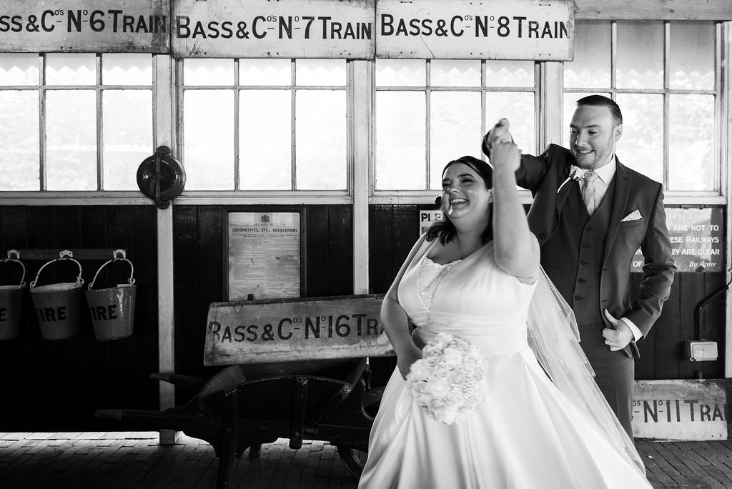 Fairytale Brewery Wedding, Pudding And Plum Photography, Unconventional Wedding, Alternative Wedding, Unique Wedding Ideas- Railway Wedding