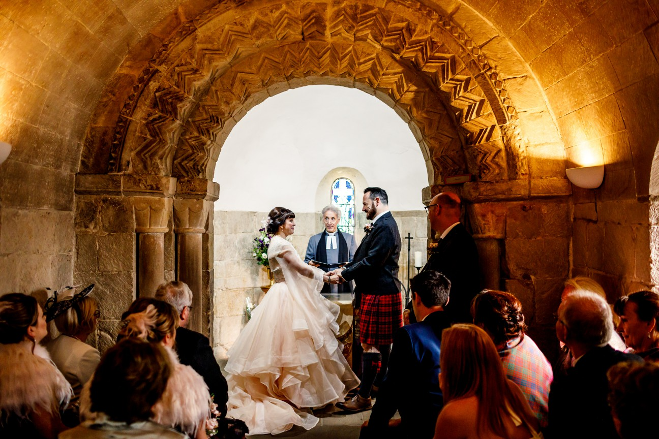 Unique Wedding Venues- Unconventional Wedding- Lina & Tom Photography- Wedding Ceremony in castle chapel