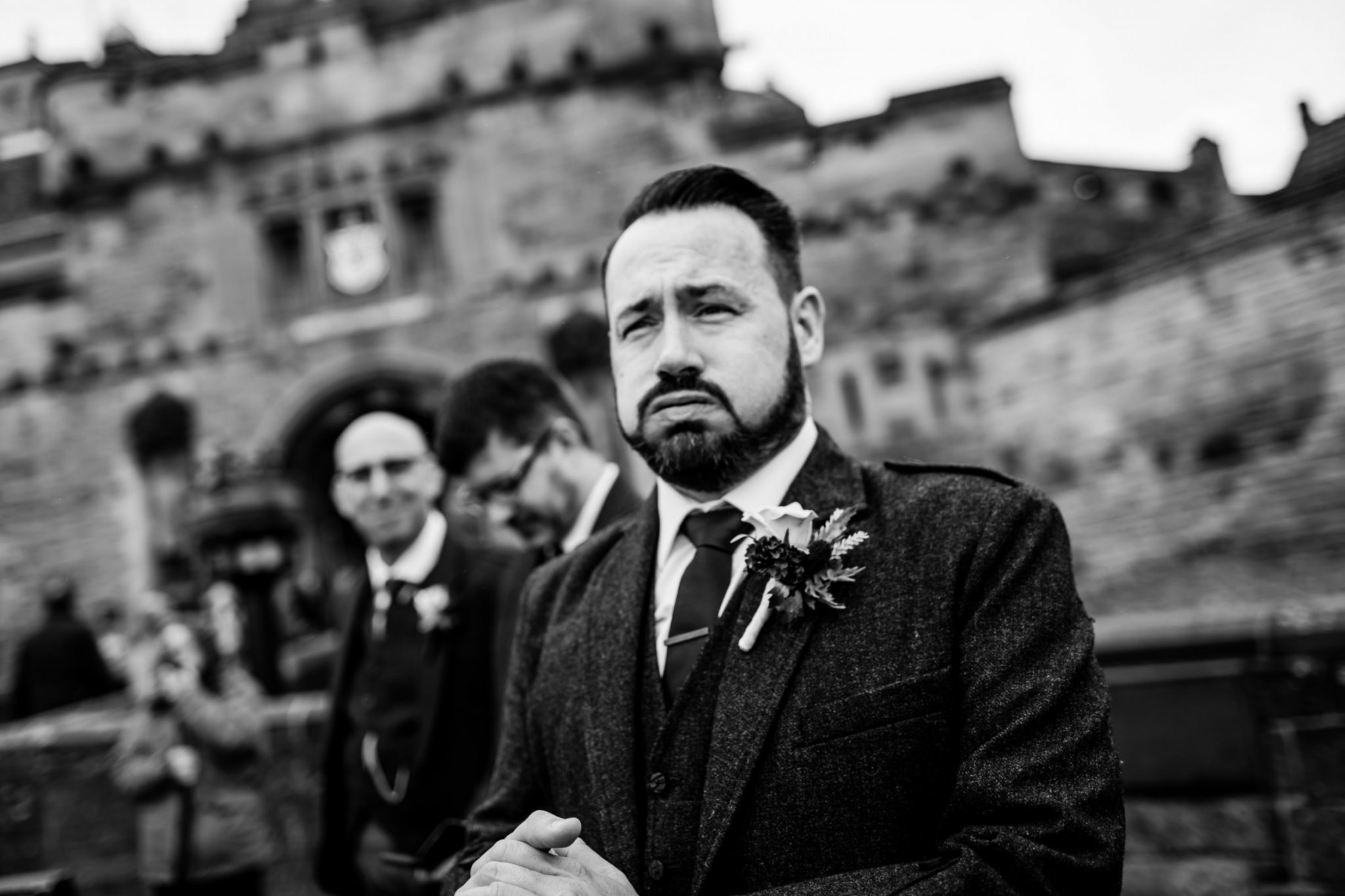Unique Wedding Venues- Unconventional Wedding- Lina & Tom Photography- groom looking nervous