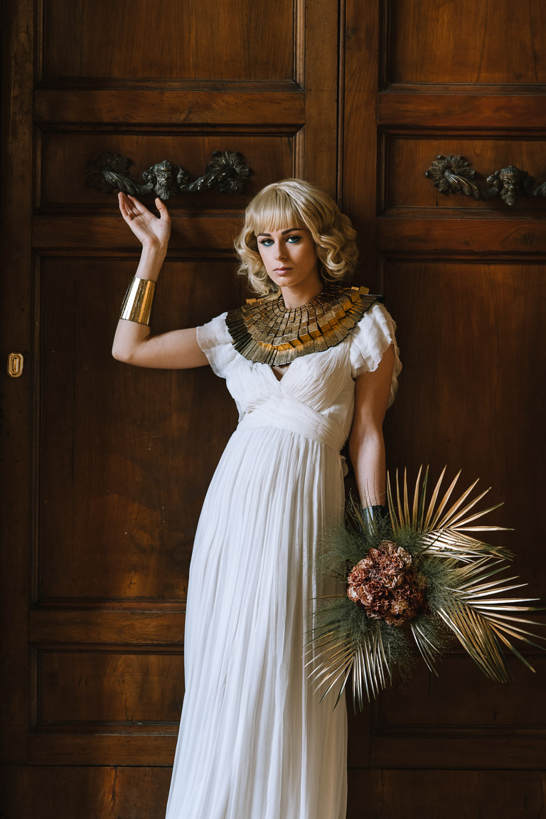 Wedding Inspiration- Marcella Cistola- cleopatra bride- unique wedding look- alternative bridalwear