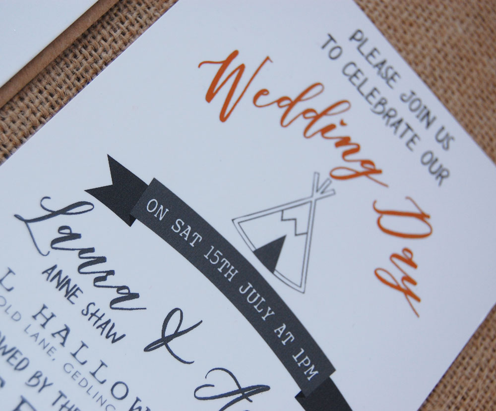 Whyte Weddings Stationery- unique wedding invitations- wedding stationery- unconventional wedding- fun wedding stationery