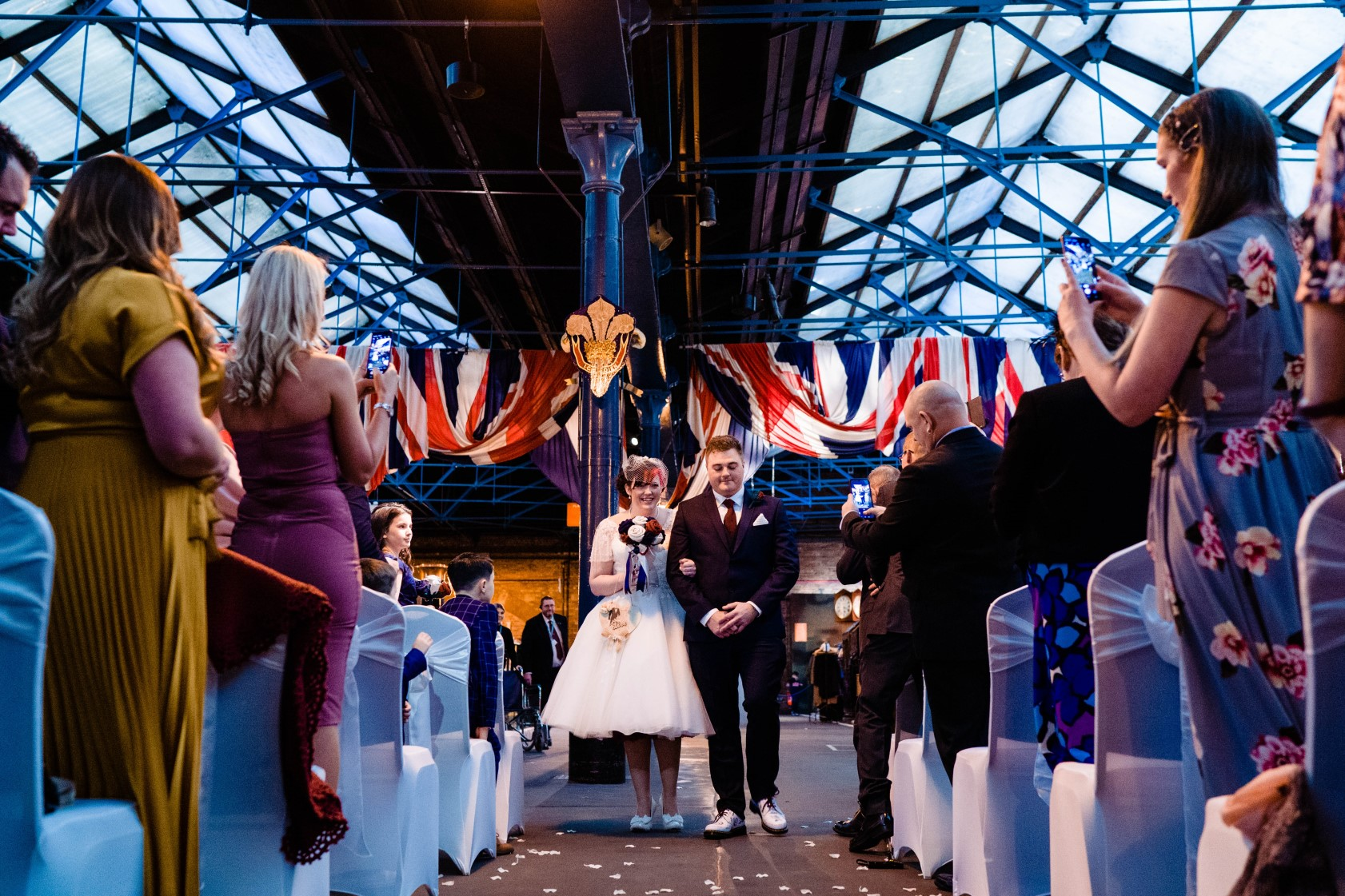 Industrial Railway Wedding- Vicki Clayson Photography- Unconventional Wedding- Unique Wedding Venue- wedding ceremony in railway museum