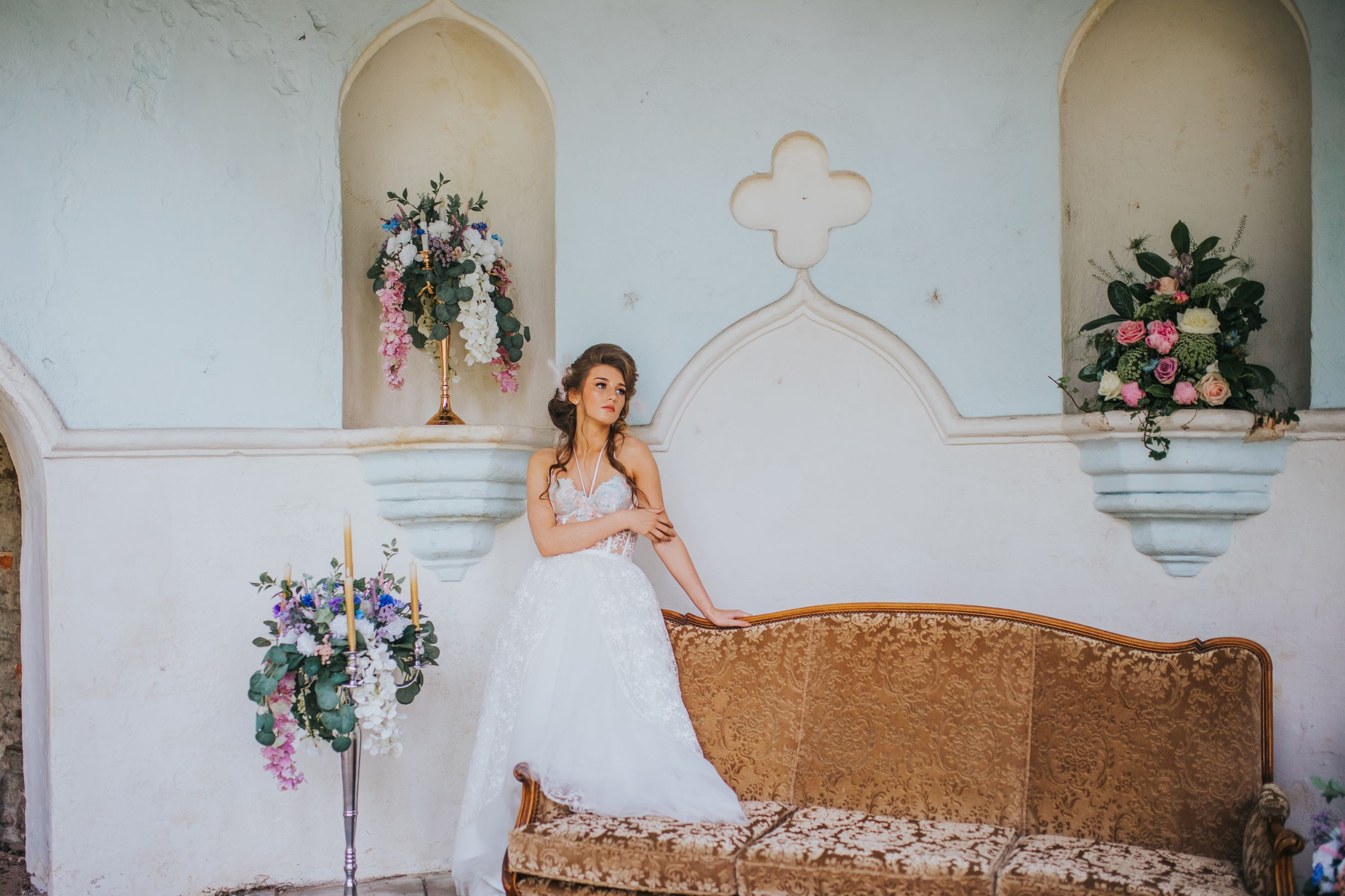 whimsical wedding- pastel wedding- laura beresford photography- unique bridalwear- alternative bridalwear- versailles wedding
