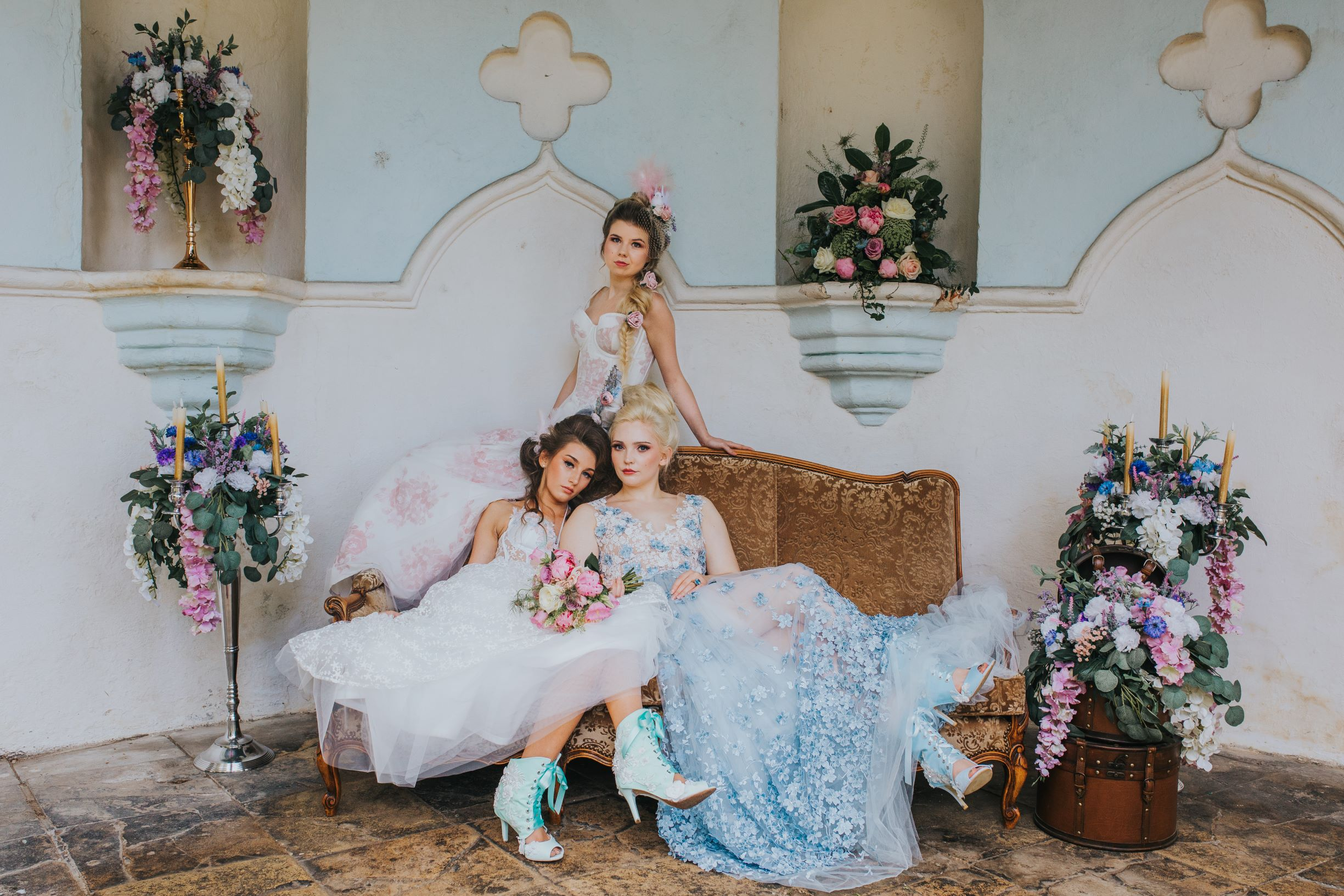 Whimsical wedding- alternative bridalwear- Laura Beresford Photography- unconventional wedding- alternative wedding- unique bridalwear- colourful wedding dresses- unique wedding shoes