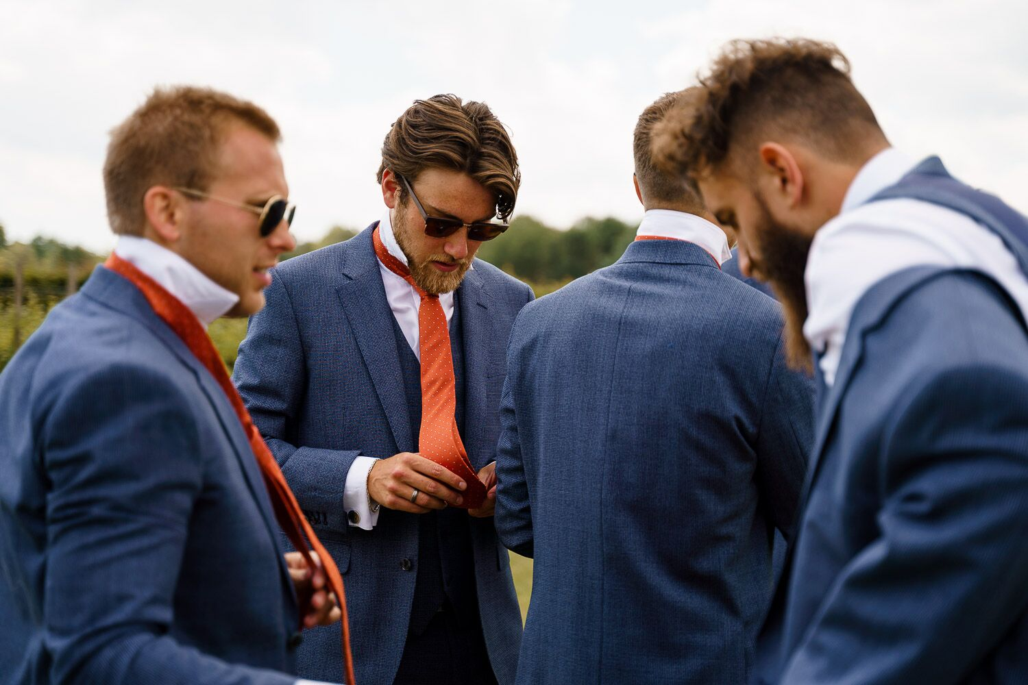 Getting Married Abroad- Grooms Perspective- Wedding Planning for Men- Unconventional Wedding- Katherine And Her Camera- Best men putting on their ties