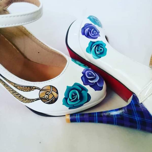 Inanna Bespoke Shoes- Harry Potter Wedding Shoes- Hand Painted Wedding Shoes- Harry Potter Wedding 2
