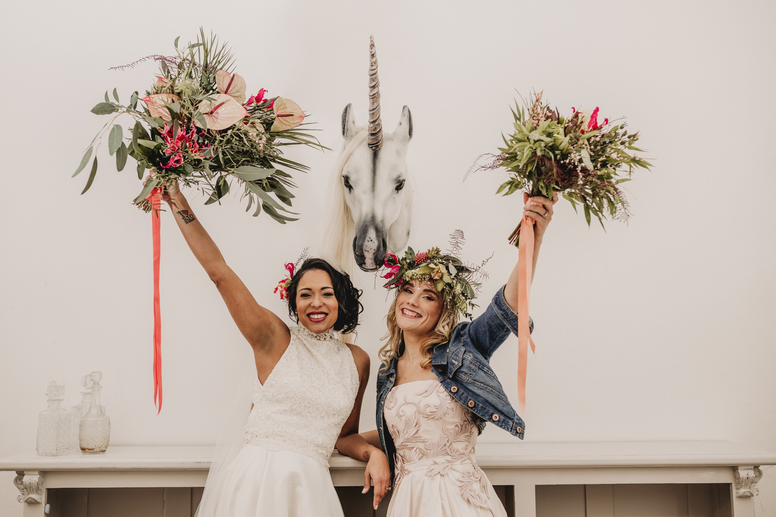 tropical opulence wedding- tropulence- twigs branch photography- unconventional wedding- unicorn wedding