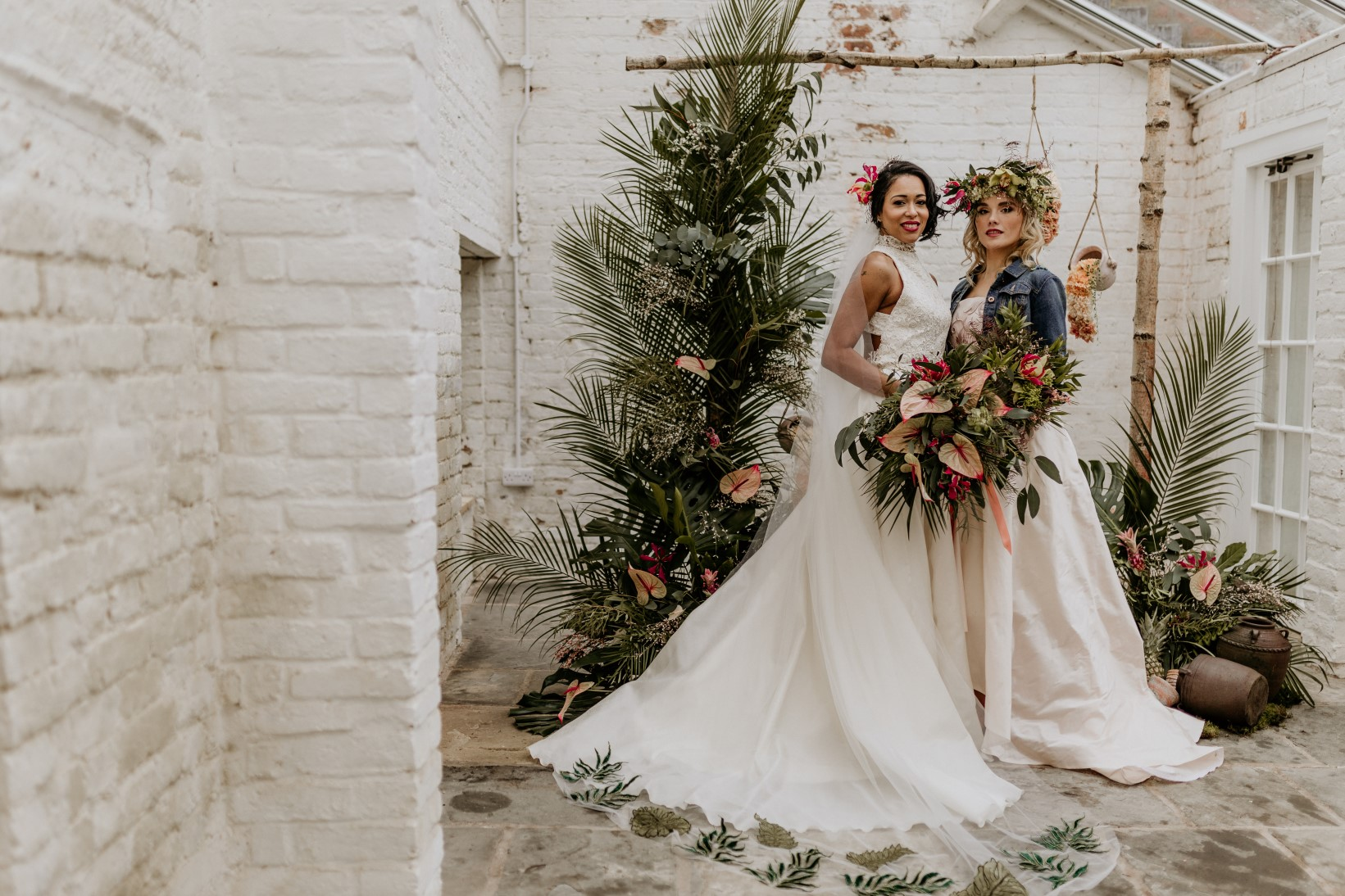 tropical opulence wedding- tropulence- twigs branch photography- unconventional wedding- bespoke bridalwear- unique wedding dress- tropical wedding decor