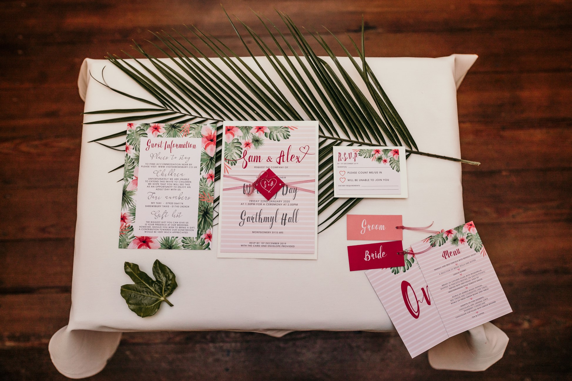 tropical opulence wedding- tropulence- twigs branch photography- unconventional wedding- bespoke wedding stationery- tropical wedding invitations