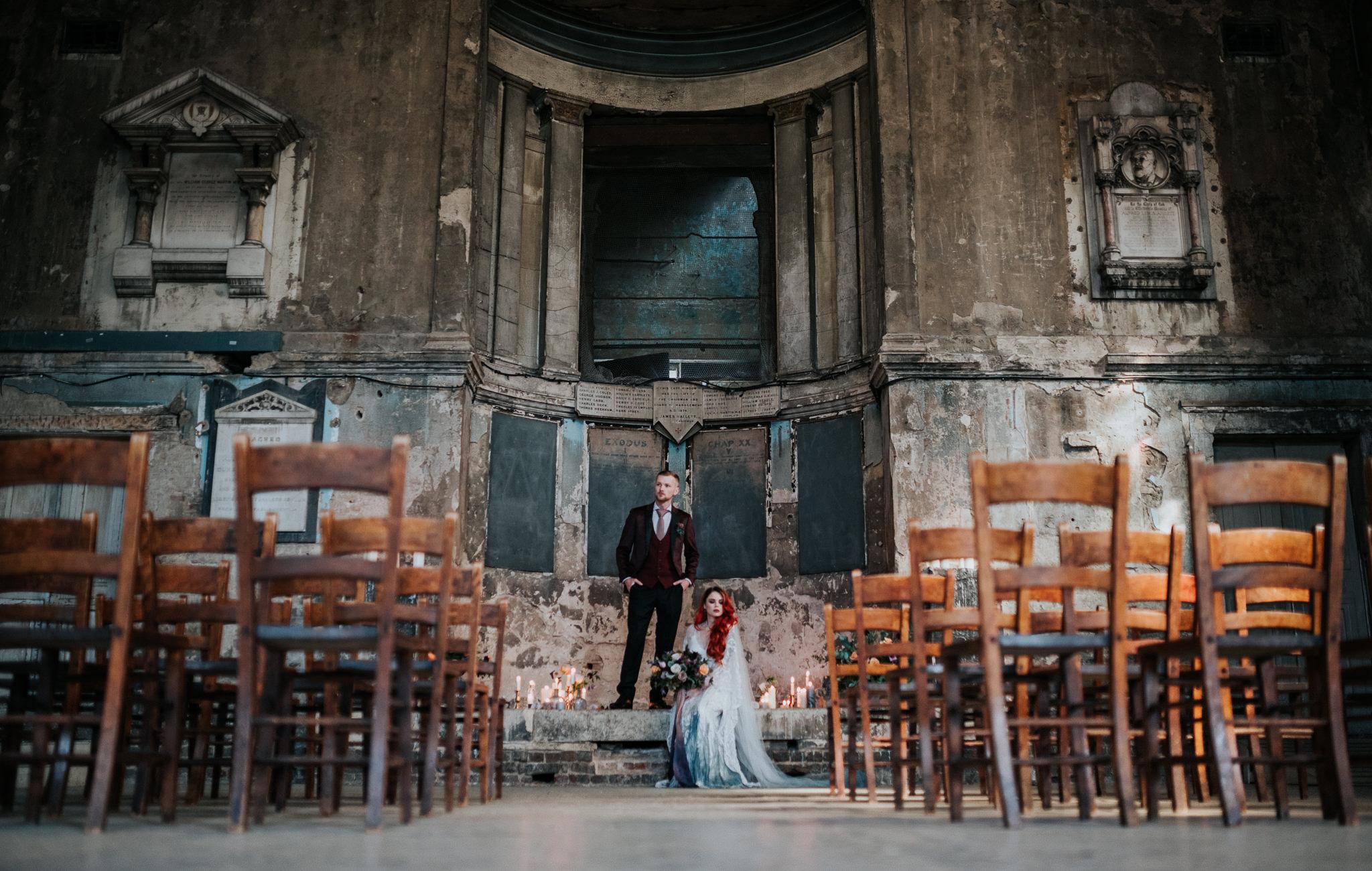 alternative chapel wedding- asylum london- unique london wedding venue- london wedding venue- Jenny Appleton Photography