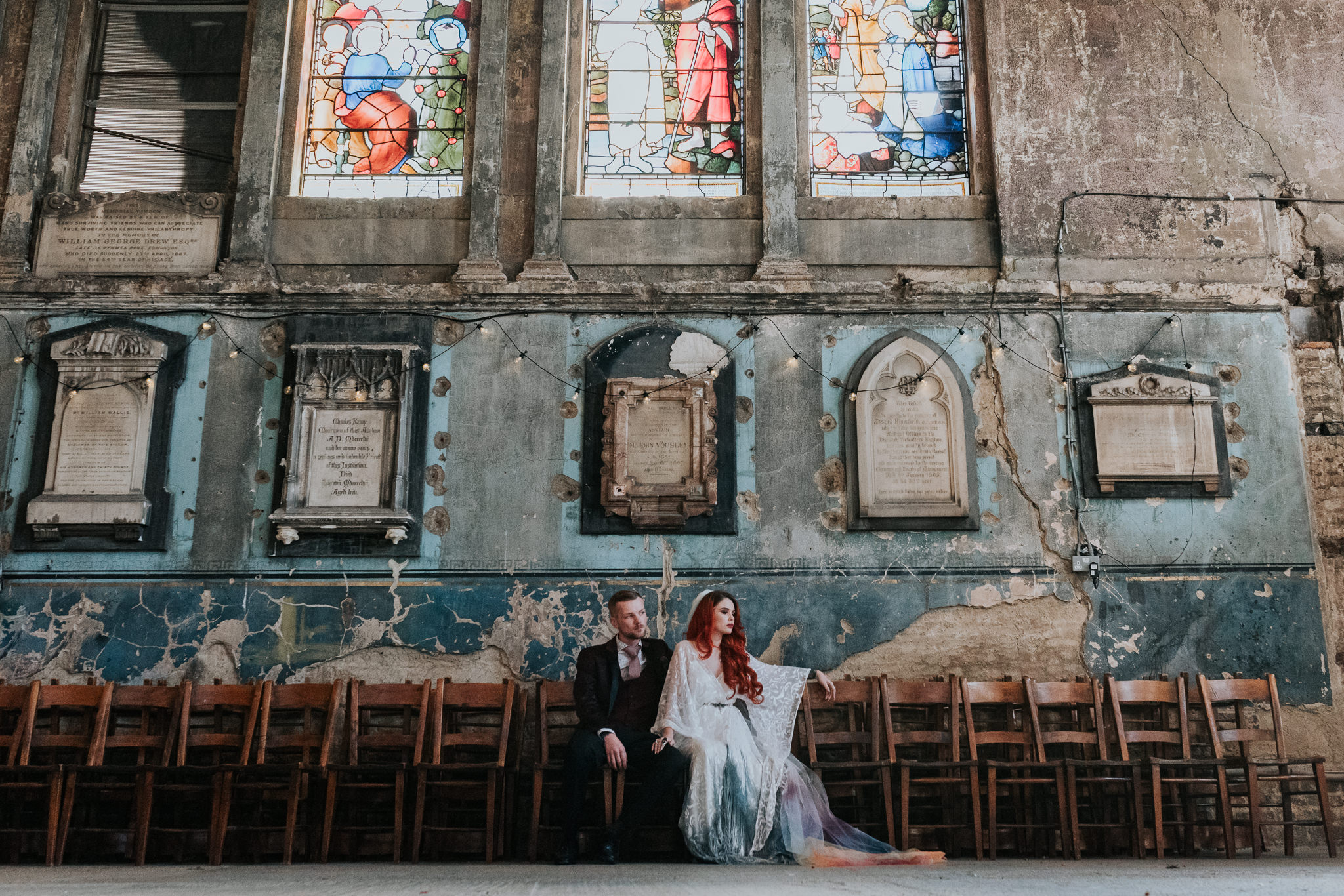 alternative chapel wedding- asylum london- unique london wedding venue- london wedding venue- Jenny Appleton Photography- chapel wedding venue- alternative wedding venue