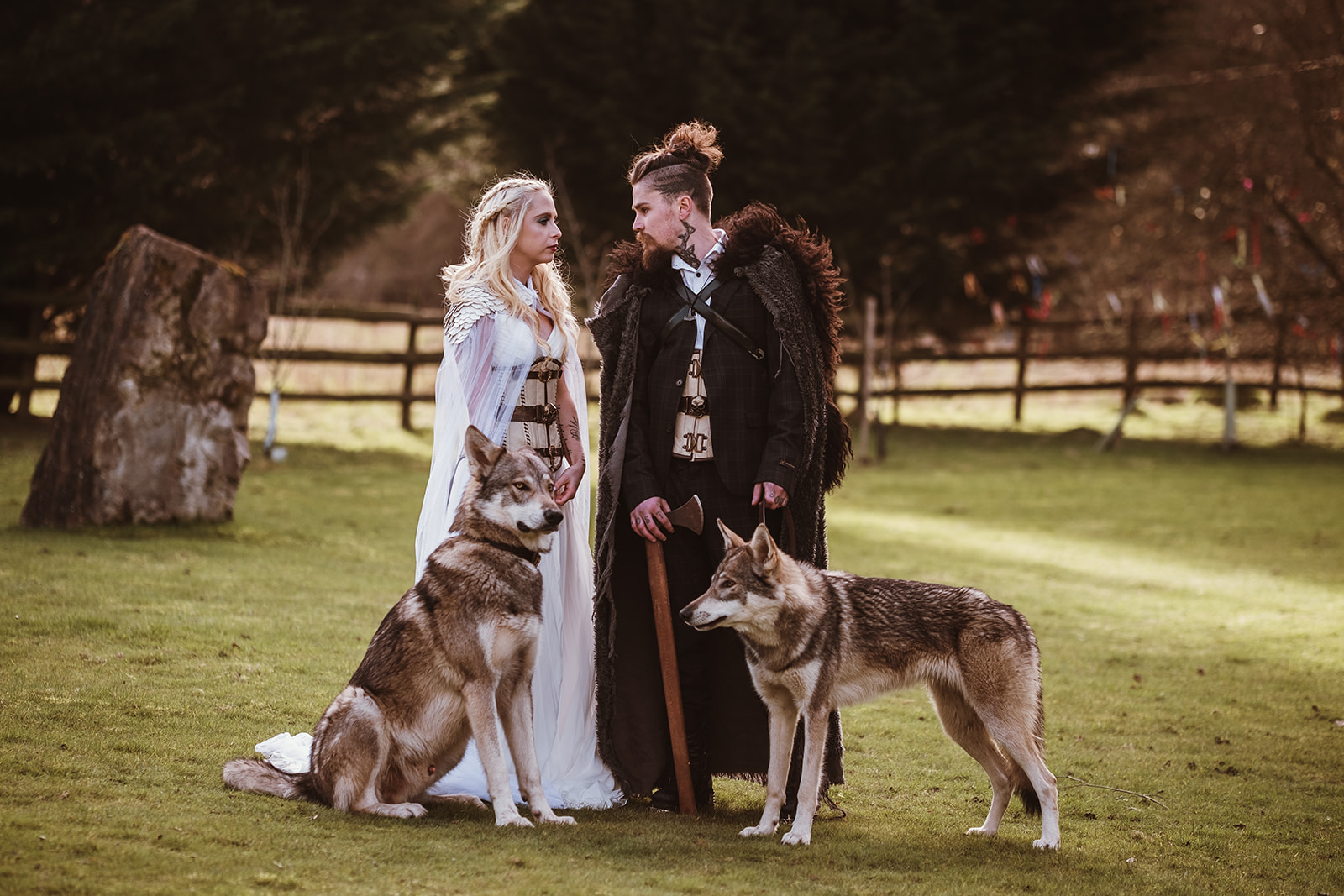 Game Of Thrones Wedding- Tom Jeavons Photography- Unconventional Wedding- Fantasy Wedding- Themed Wedding- wedding wolves