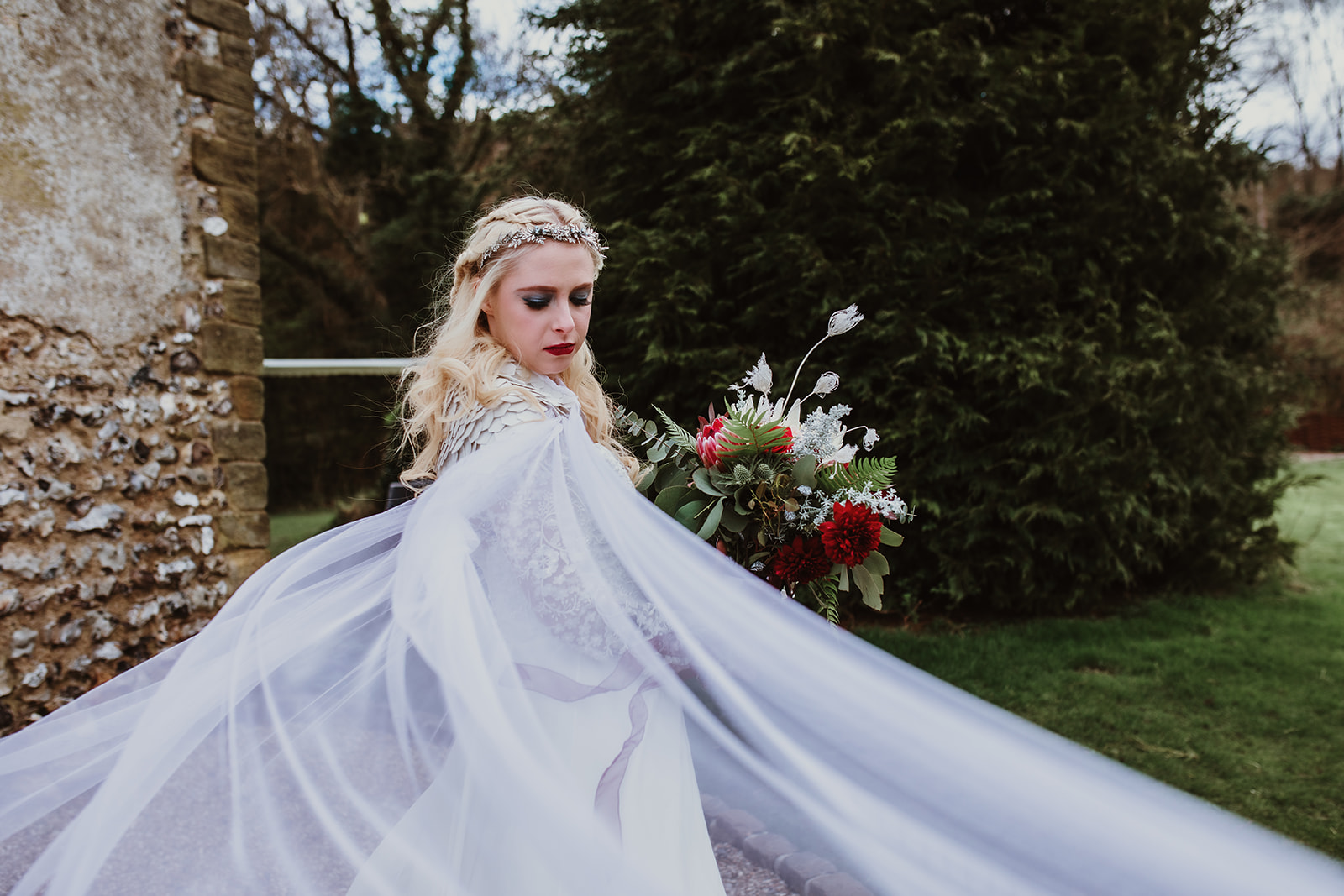 Game Of Thrones Wedding- Tom Jeavons Photography- Unconventional Wedding- Fantasy Wedding- Themed Wedding- bride twirling in dress