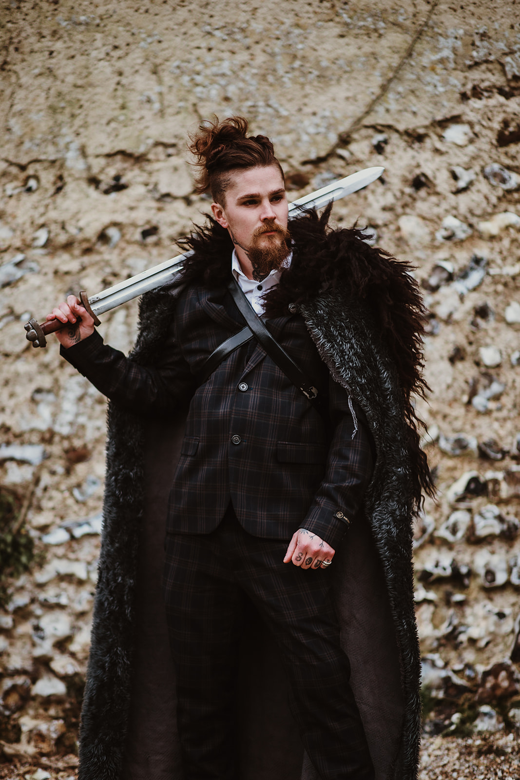 Game Of Thrones Wedding- Tom Jeavons Photography- Unconventional Wedding- Fantasy Wedding- Themed Wedding- gothic groomswear