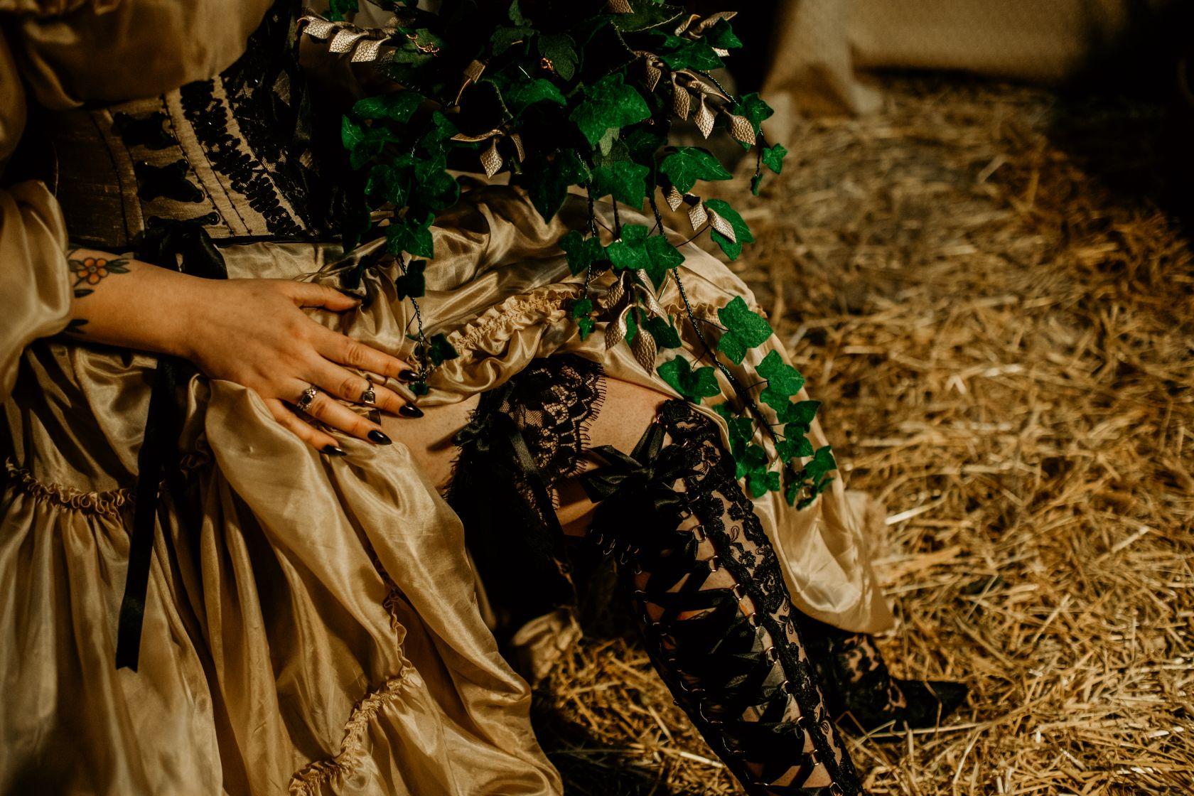 alternative fairytale wedding- snow white wedding- charlotte laurie designs-chloe mary photo- unconventional wedding- alternative wedding inspiration- wedding lace boots