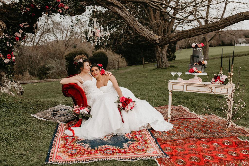 romantic woodland wedding - whimsical wedding- shakespeare wedding- unconventional wedding- outdoor wedding styling
