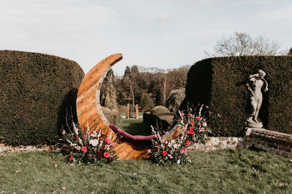 romantic woodland wedding - whimsical wedding- shakespeare wedding- unconventional wedding- unique wedding props