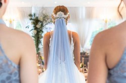 blue veil - blue wedding veil