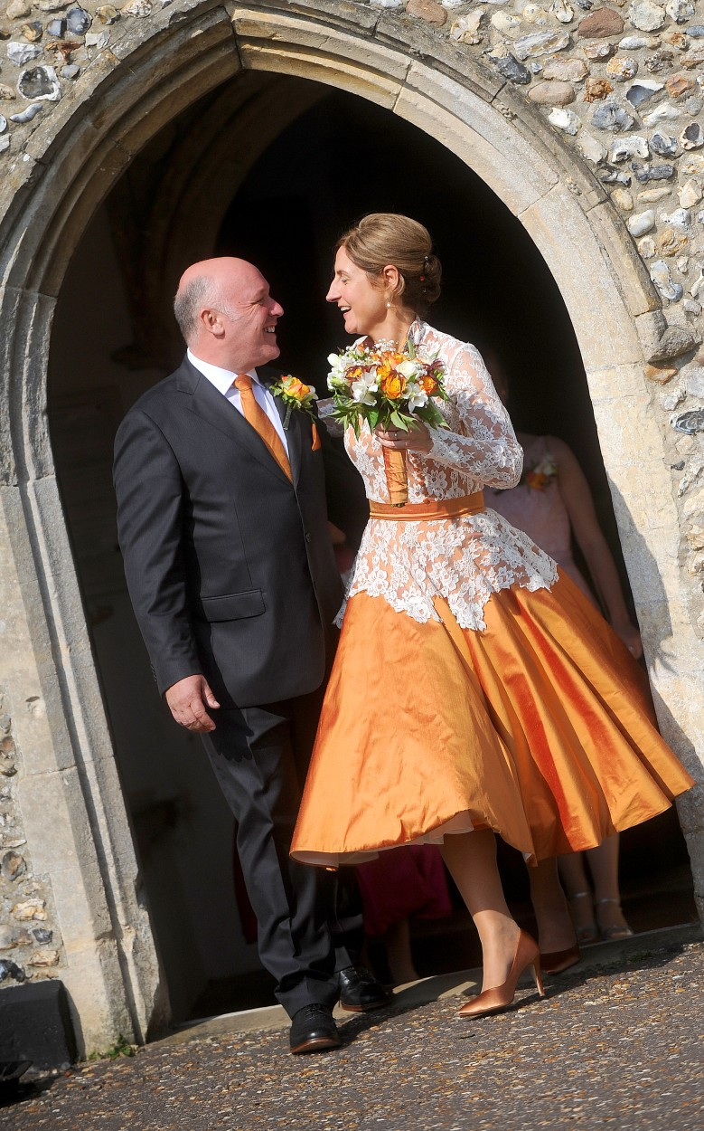 orange wedding dress - coloured wedding dresses - unconventional wedding - alternative wedding dresses - unique wedding dresses