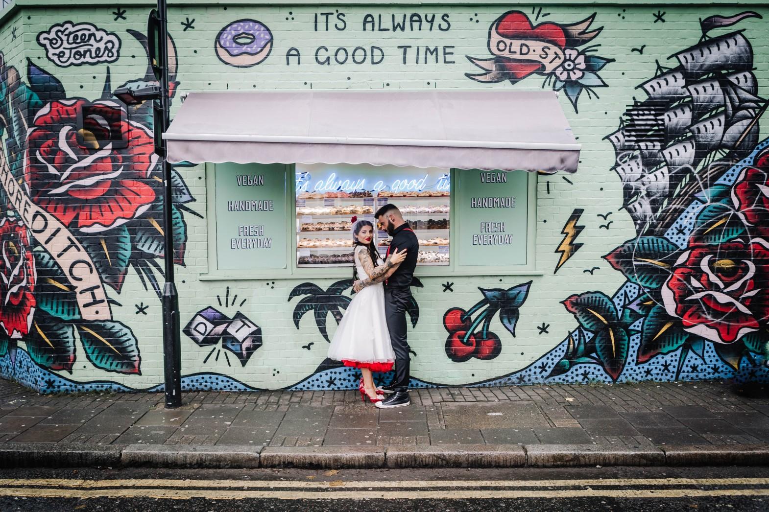 Urban Rockabilly Wedding - Urban Wedding - Magpie-Eye Photography- Unconventional Wedding- unique wedding photos