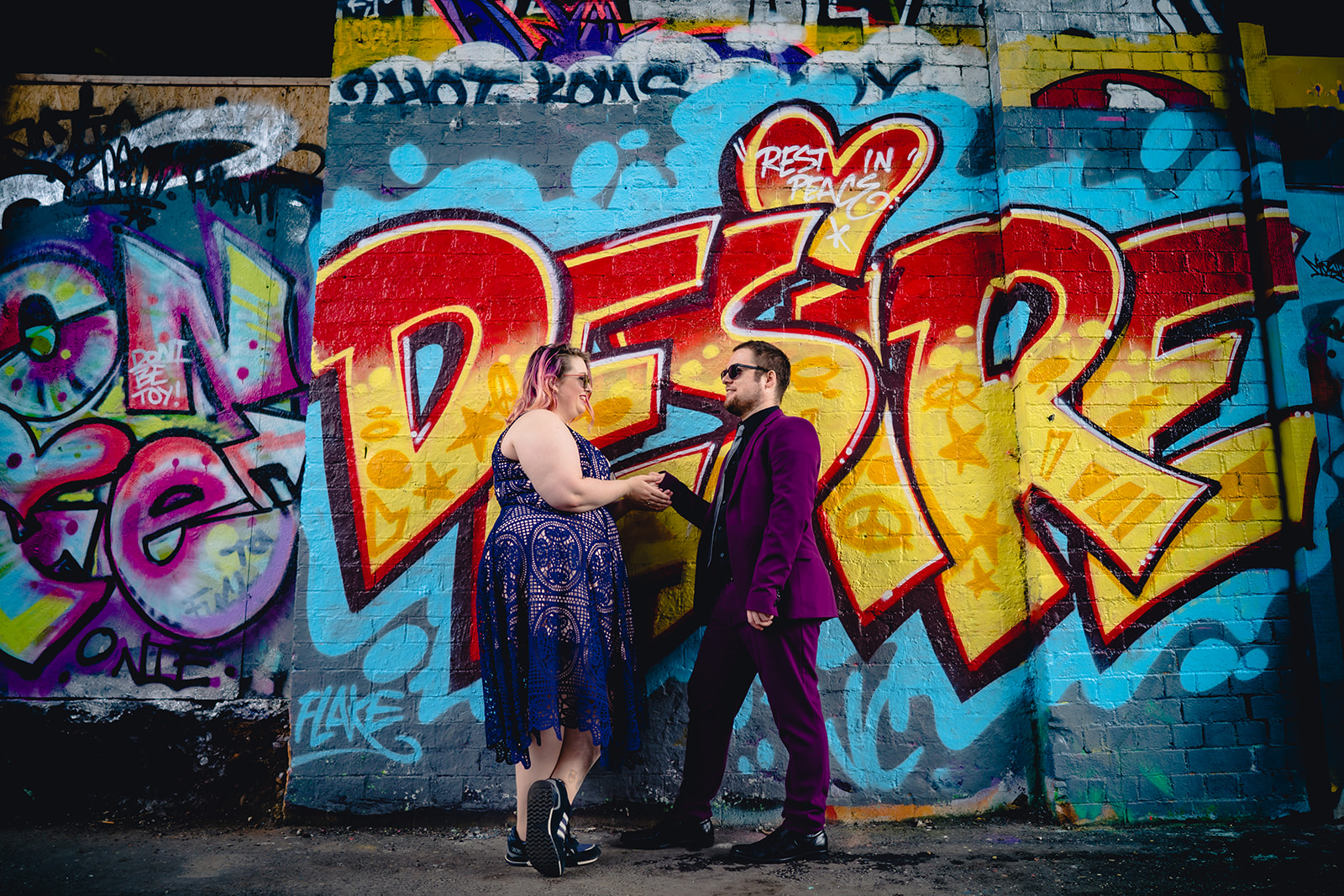 engagement shoots - birmingham engagement shoot - colourful wedding photoshoot - quirky wedding photos - fun wedding photography - alternative wedding - casual engagement shoot