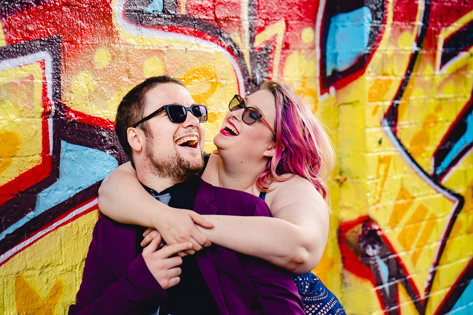 engagement shoots - birmingham engagement shoot - colourful wedding photoshoot - quirky wedding photos - fun wedding photography - alternative wedding - colourful couple