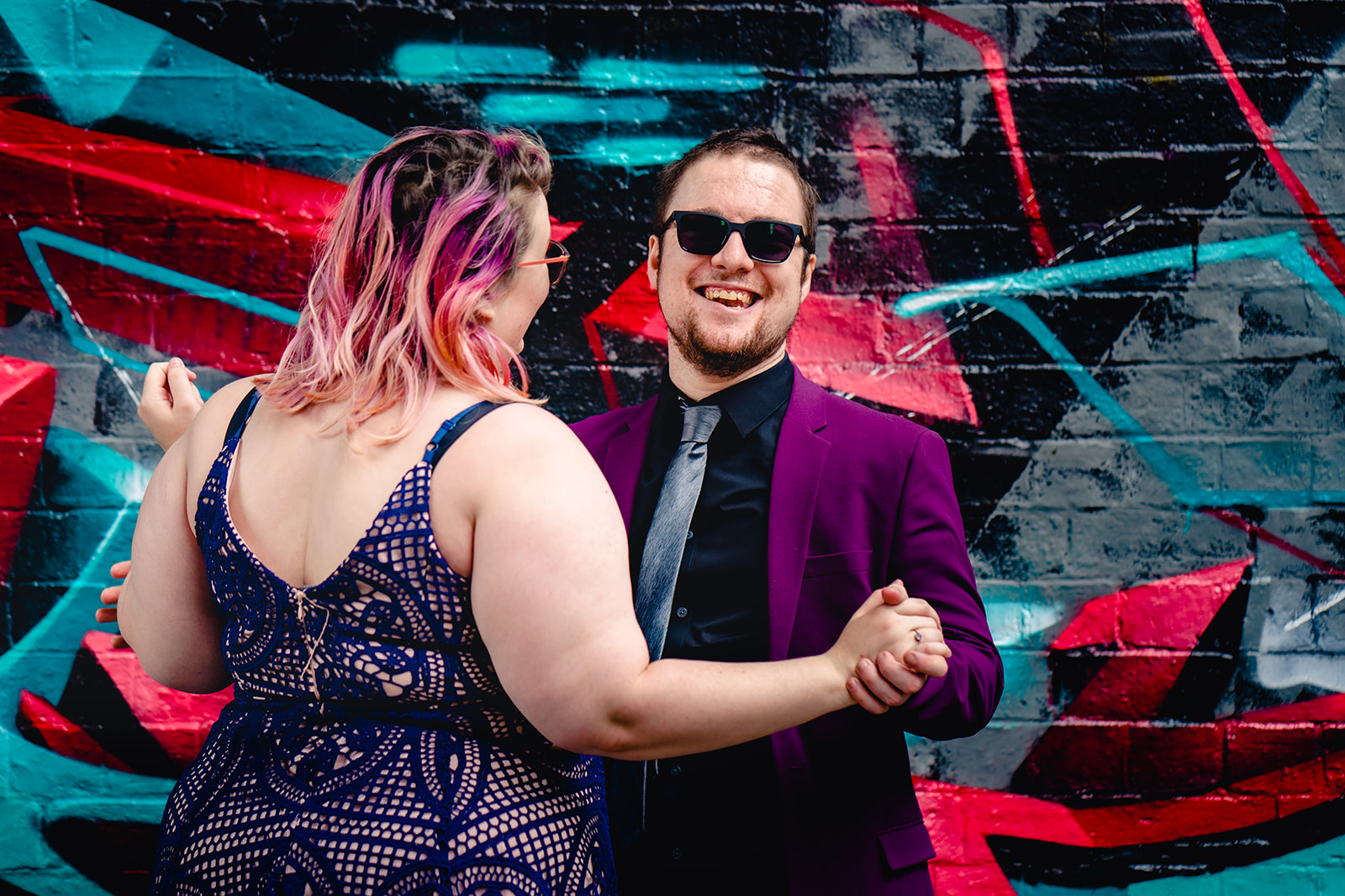 engagement shoots - birmingham engagement shoot - colourful wedding photoshoot - quirky wedding photos - fun wedding photography - alternative wedding - fun wedding photo