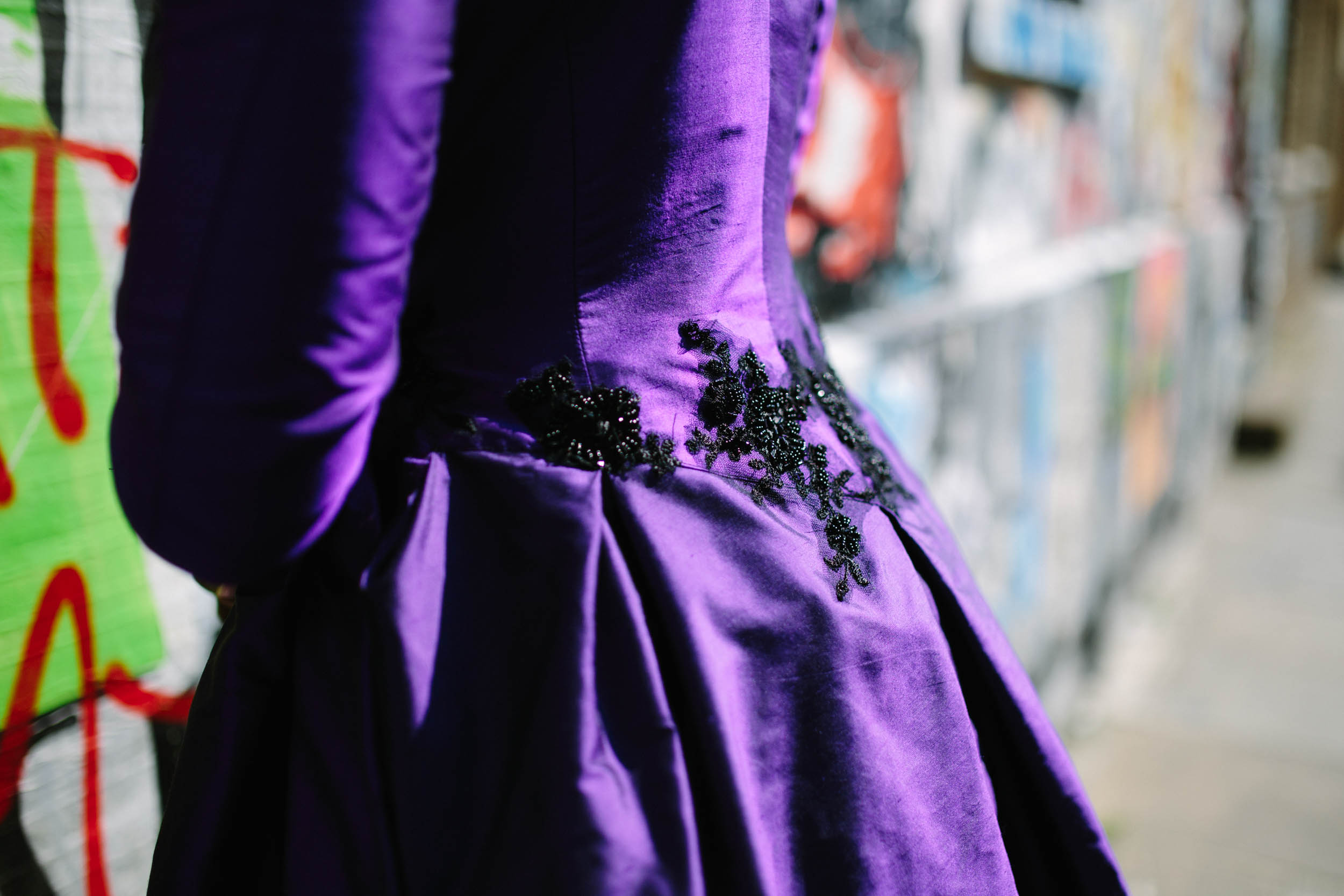 purple wedding dress - purple wedding coat- - burlesque wedding - alternative bridal wear - unique wedding dress - unique wedding coat