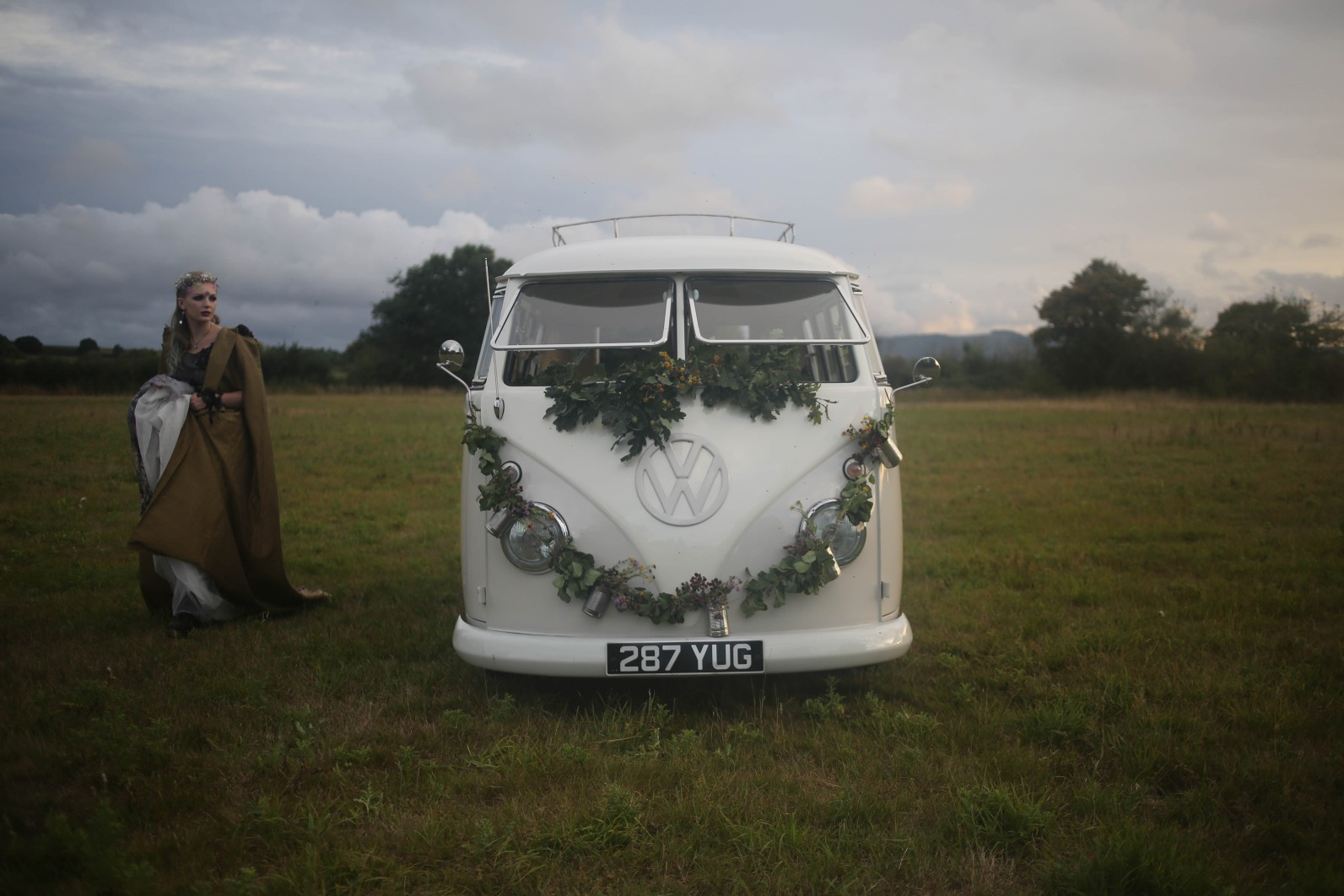 nature wedding - pagan wedding - ethereal wedding - spiritual wedding - alternative wedding - mystical wedding - quirky wedding - wedding camper van