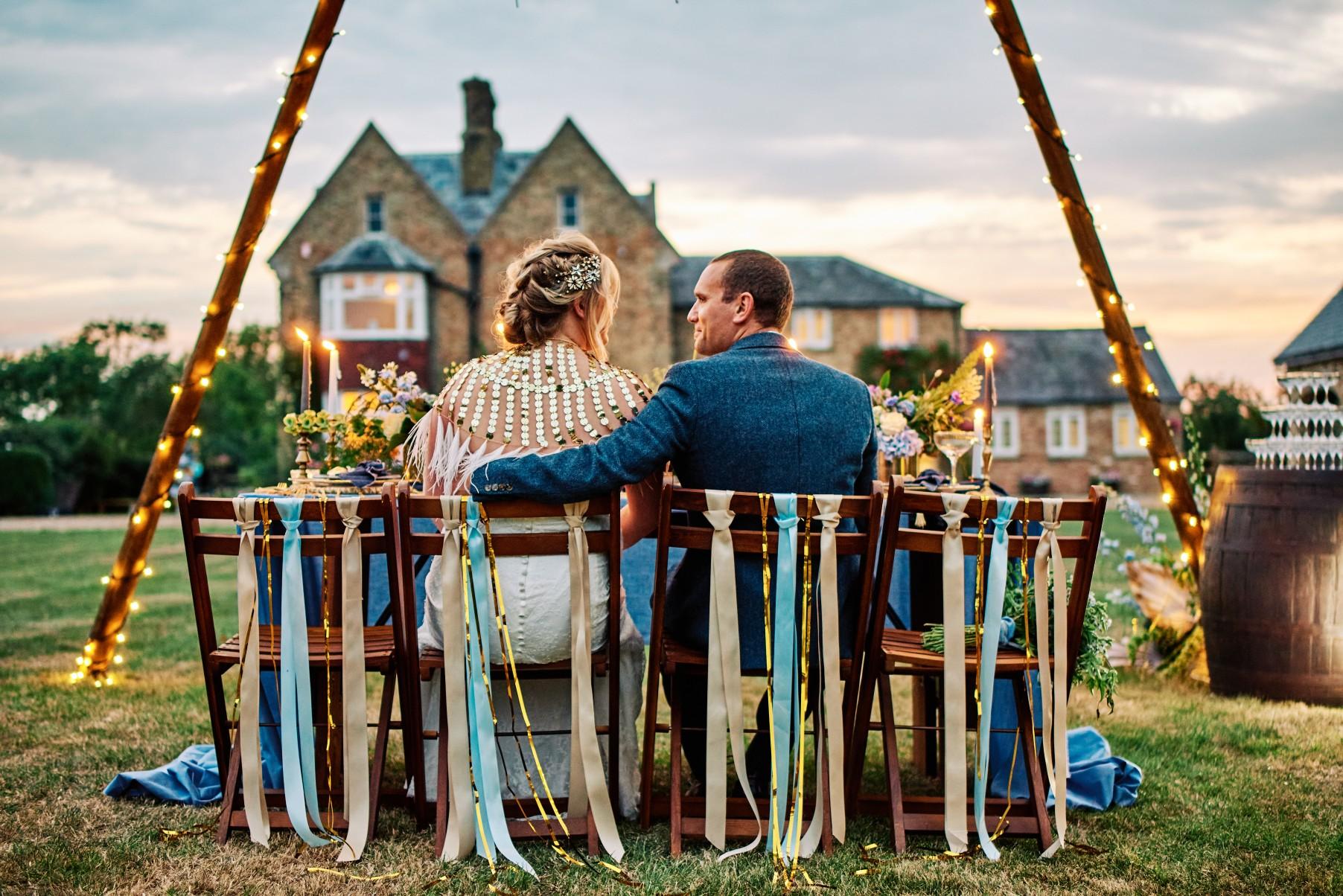 nhs wedding - paramedic wedding - blue and gold wedding - outdoor wedding - micro wedding - surprise wedding - outdoor wedding inspiration