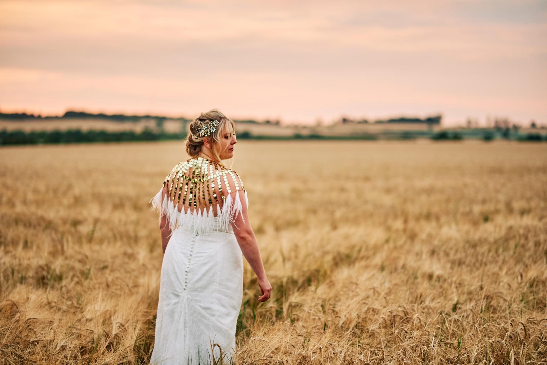 nhs wedding - paramedic wedding - blue and gold wedding - outdoor wedding - micro wedding - surprise wedding - festival bride
