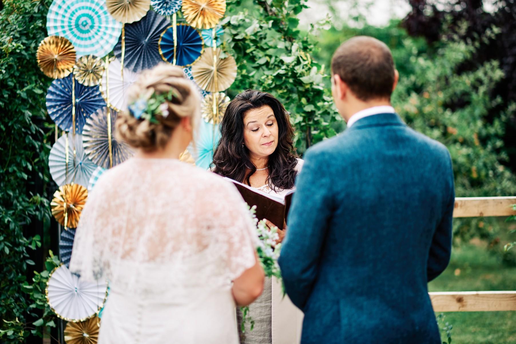 nhs wedding - paramedic wedding - blue and gold wedding - outdoor wedding - micro wedding - surprise wedding - celebrant wedding