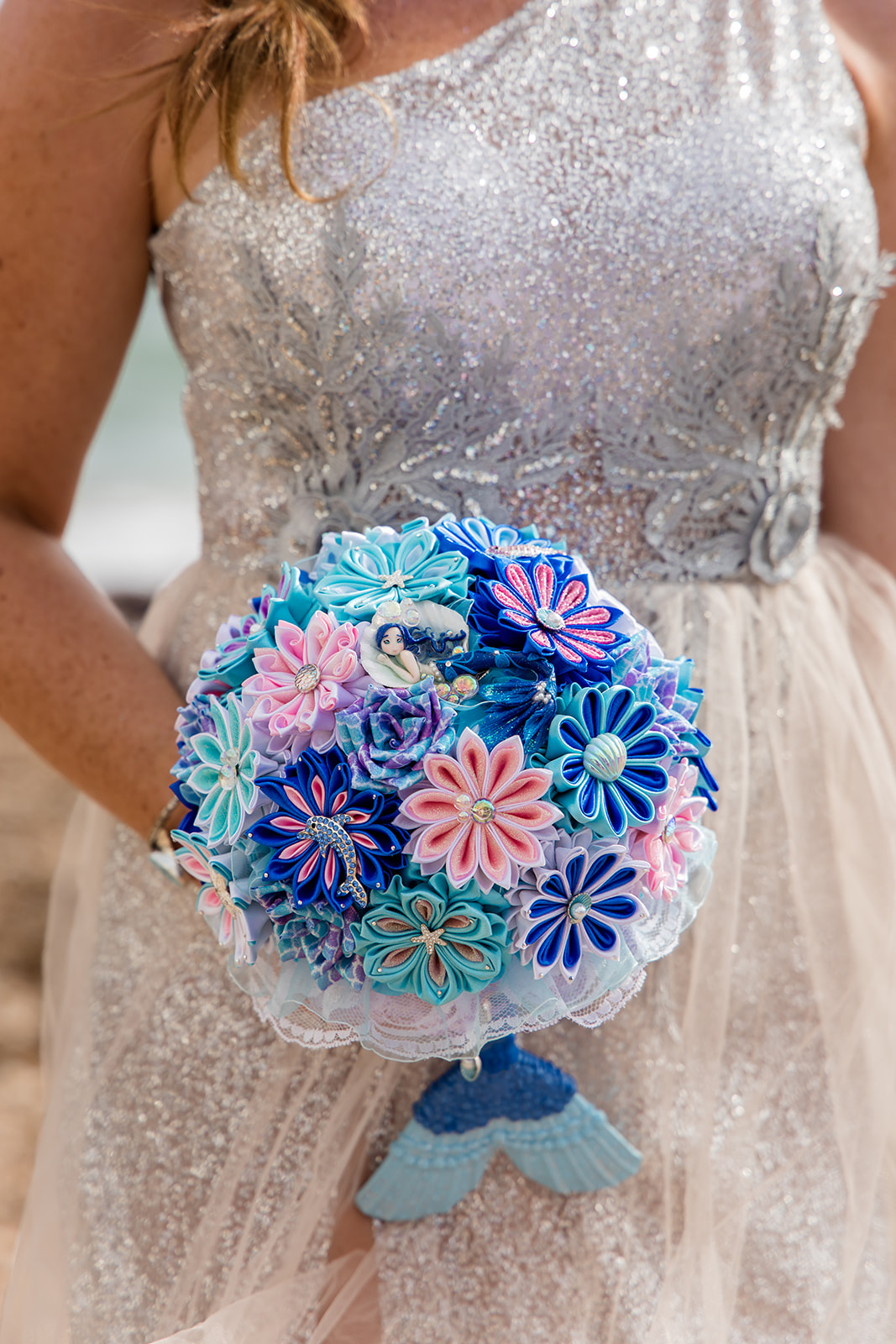 mermaid wedding - beach wedding - quirky wedding - unique wedding - alternative seaside wedding - alternative wedding - mermaid bouquet - alternative bouquet