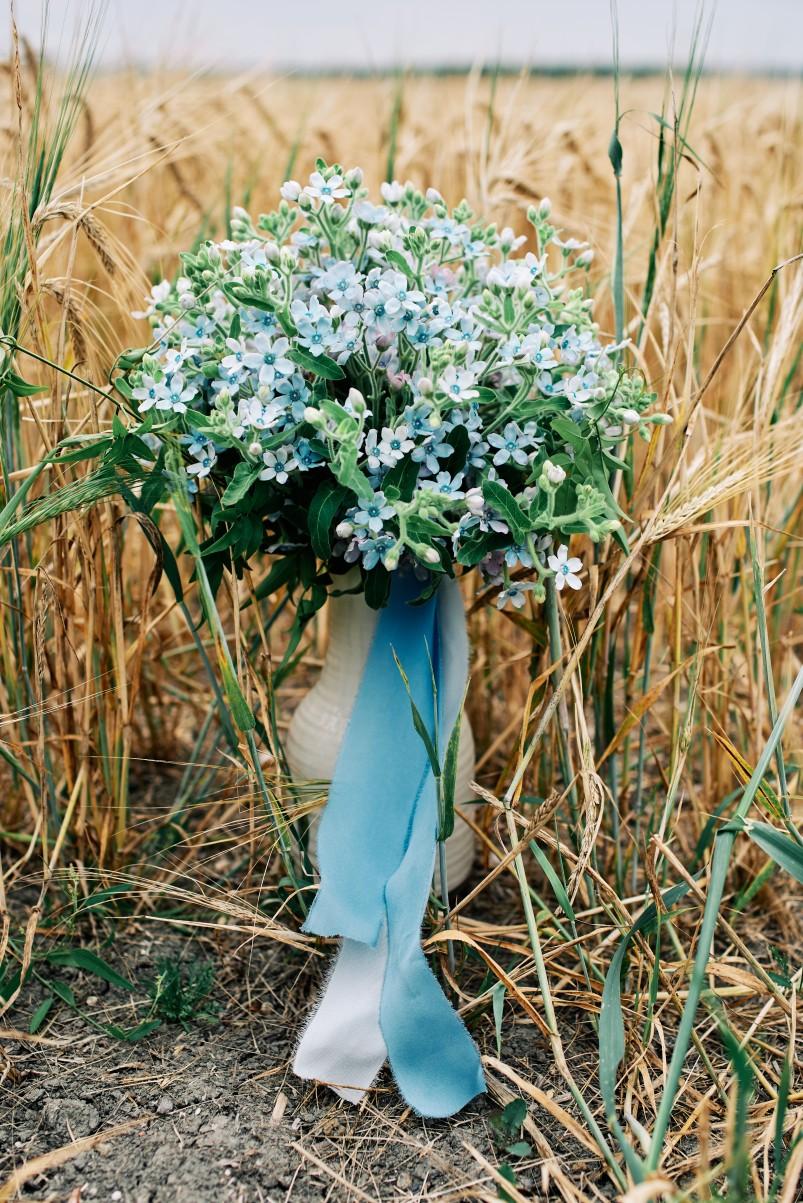 nhs wedding - paramedic wedding - blue and gold wedding - outdoor wedding - micro wedding - surprise wedding - simple blue wedding flowers